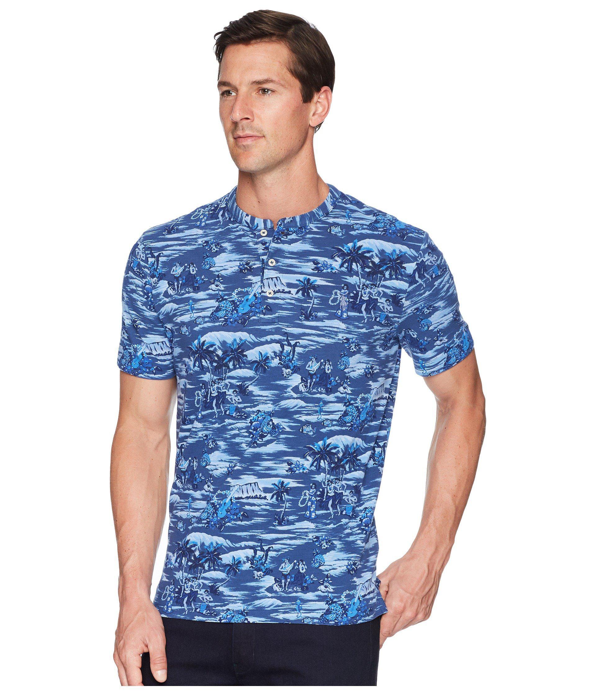 Lyst - Polo Ralph Lauren Featherweight Short Sleeve Knit Henley in Blue for  Men - Save 51.02040816326531% a0d32a24563d