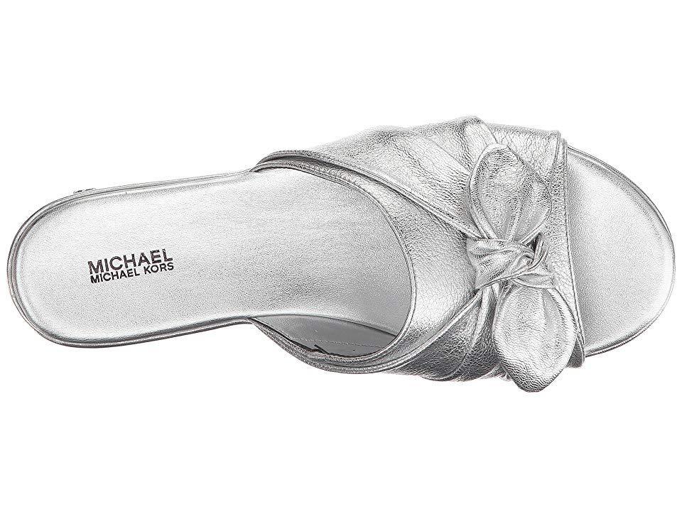 96509ab10c MICHAEL Michael Kors - Pippa Slide (silver Metallic Nappa) Sandals - Lyst.  View fullscreen