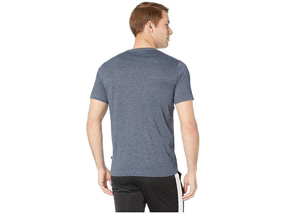 PUMA Ess Heather Tee (peacoat Heather) T Shirt in Gray for