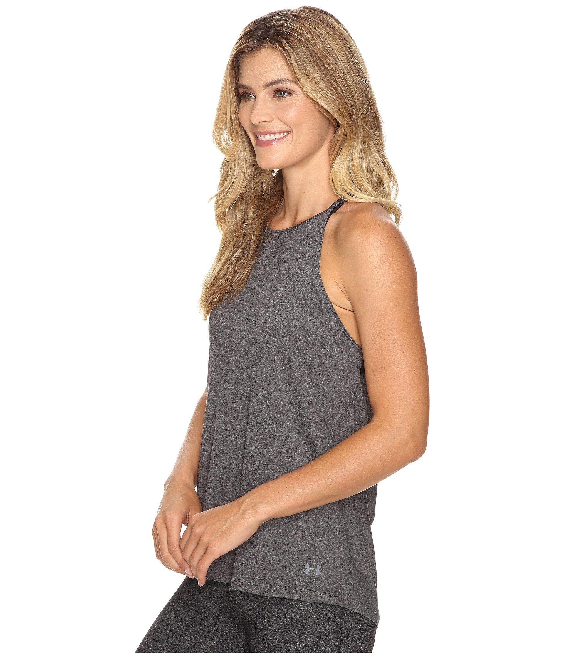 cac1ff9711b3f Lyst - Under Armour Ua Wishbone Tank Top in Gray - Save 31%