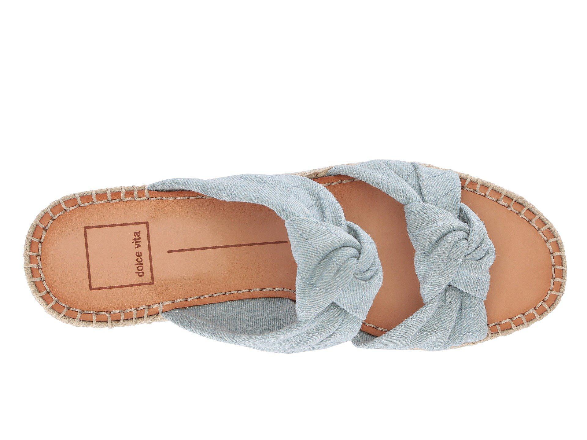 7e0cd41a014 Dolce Vita - Blue Lera Espadrille Wedge Sandal - Lyst. View fullscreen
