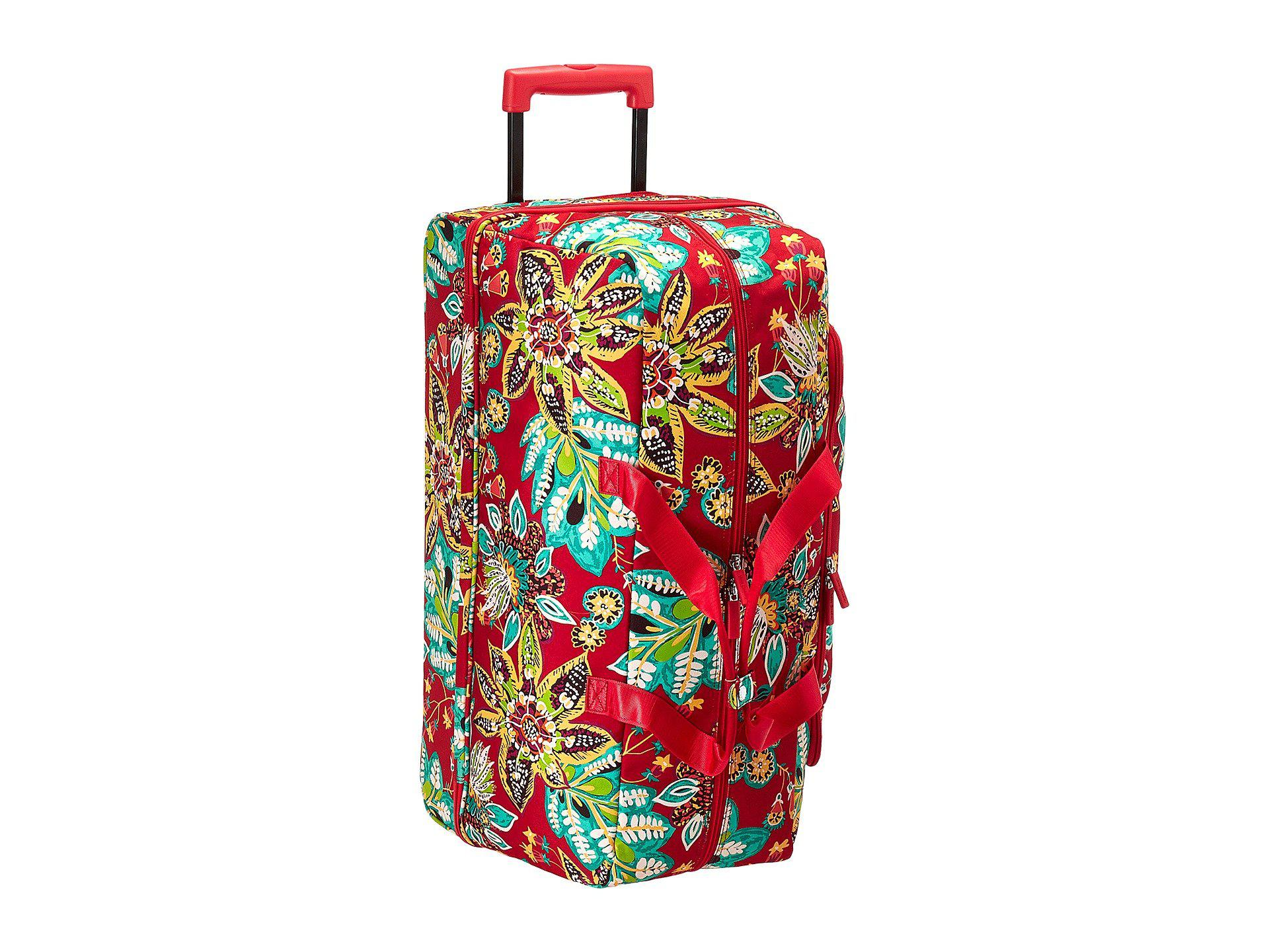 5db08c6a47c Lyst - Vera Bradley Luggage Lighten Up Large Wheeled Duffel in Red ...