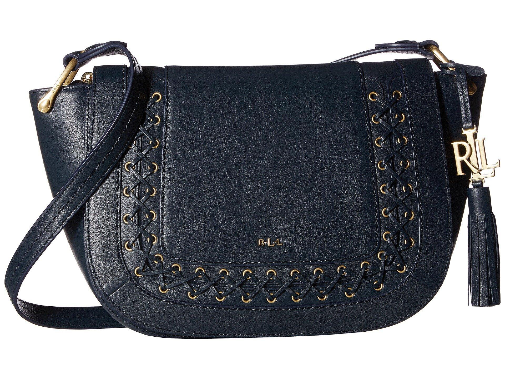 9b9e4fb3aa Lyst - Lauren by Ralph Lauren Ashfield Amari Saddle Bag in Blue