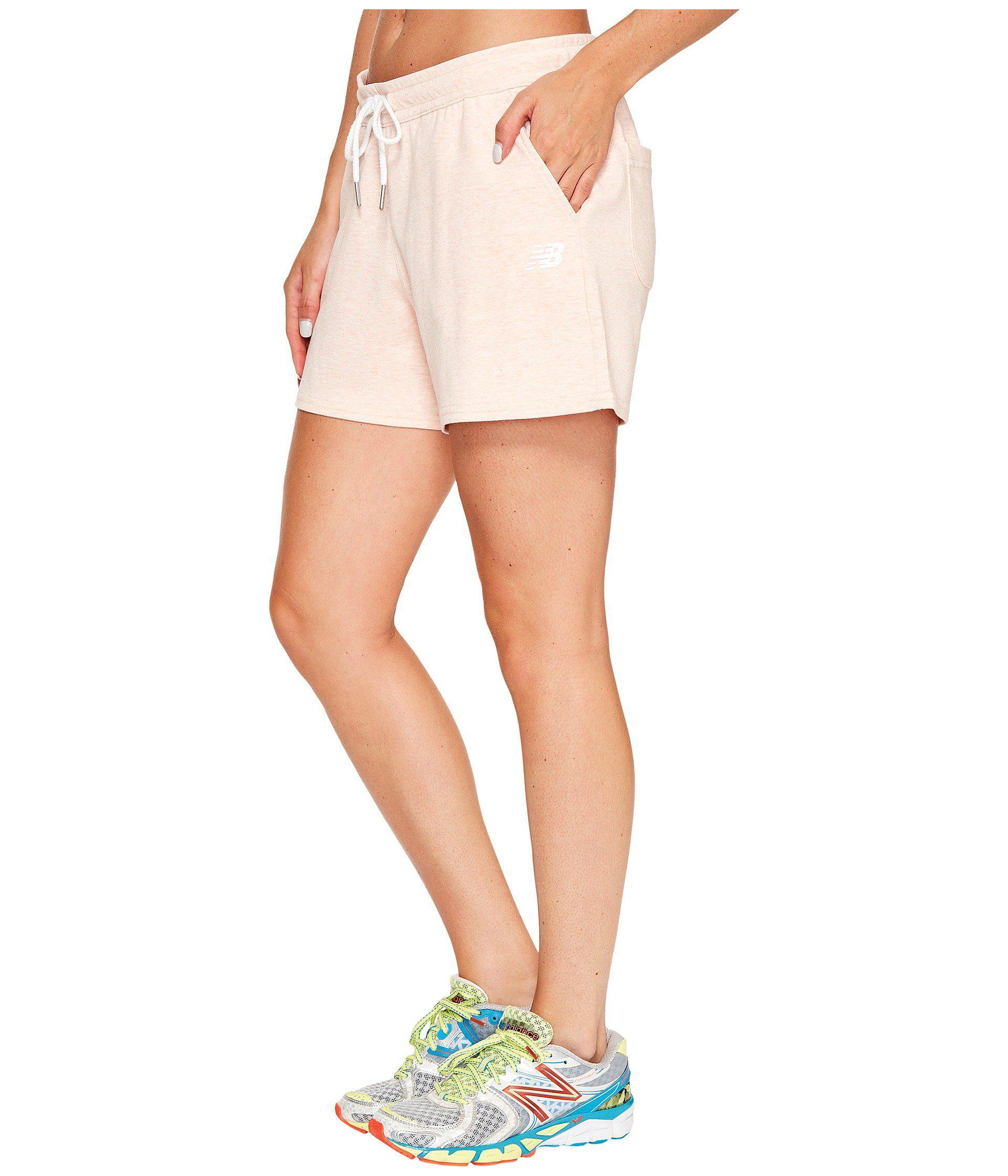 new balance fleece shorts