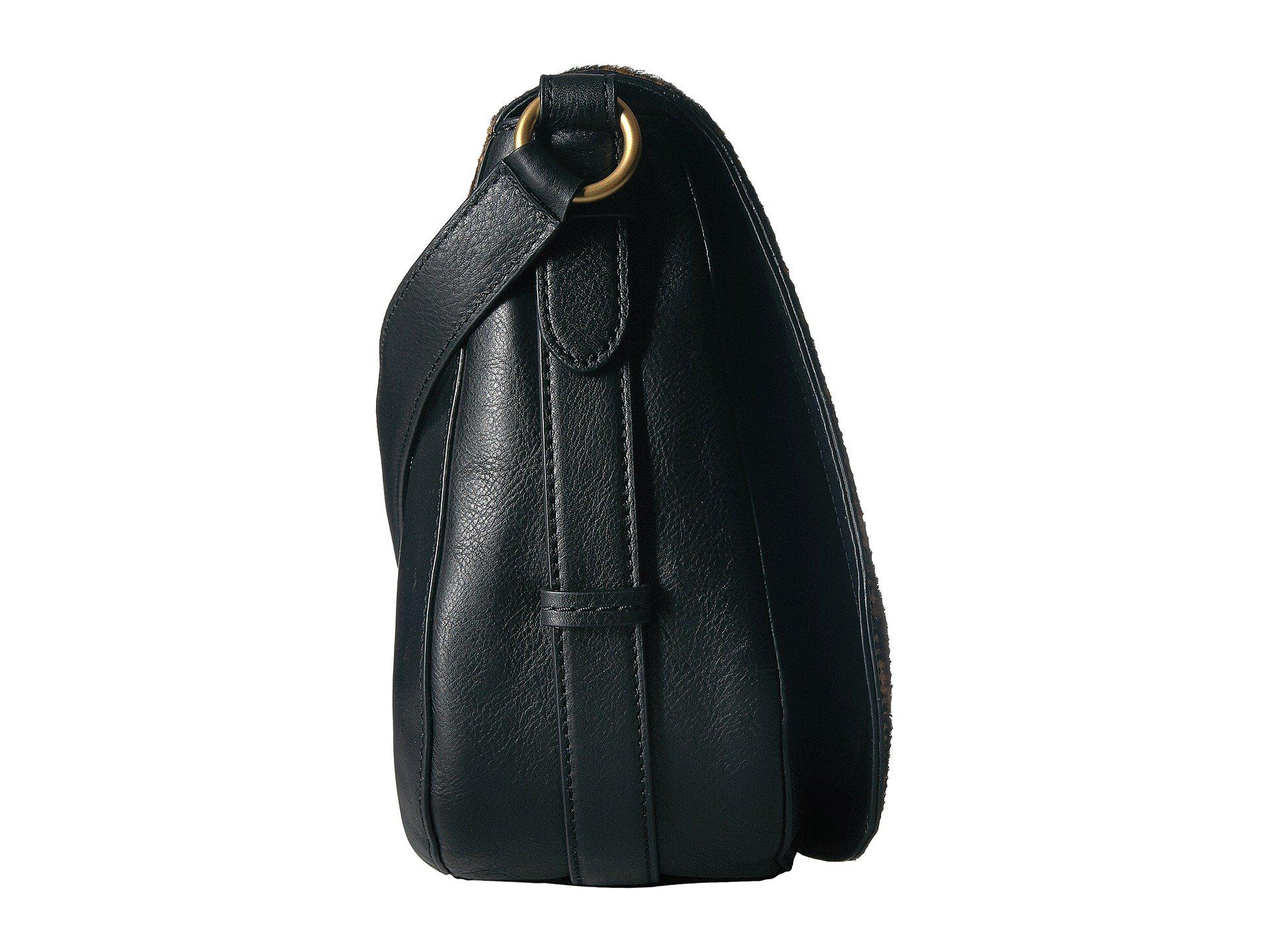 Lyst - Lauren by Ralph Lauren Glennmore Larisa Saddle Bag in Black e63d0eba52aa3