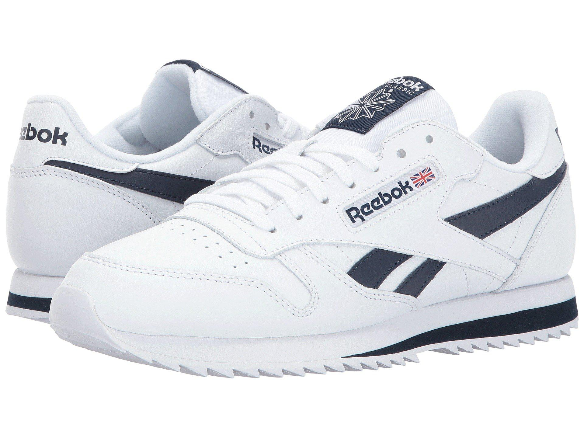 0053aab3a0f Reebok - White Classic Leather Ripple Low Bp for Men - Lyst. View fullscreen