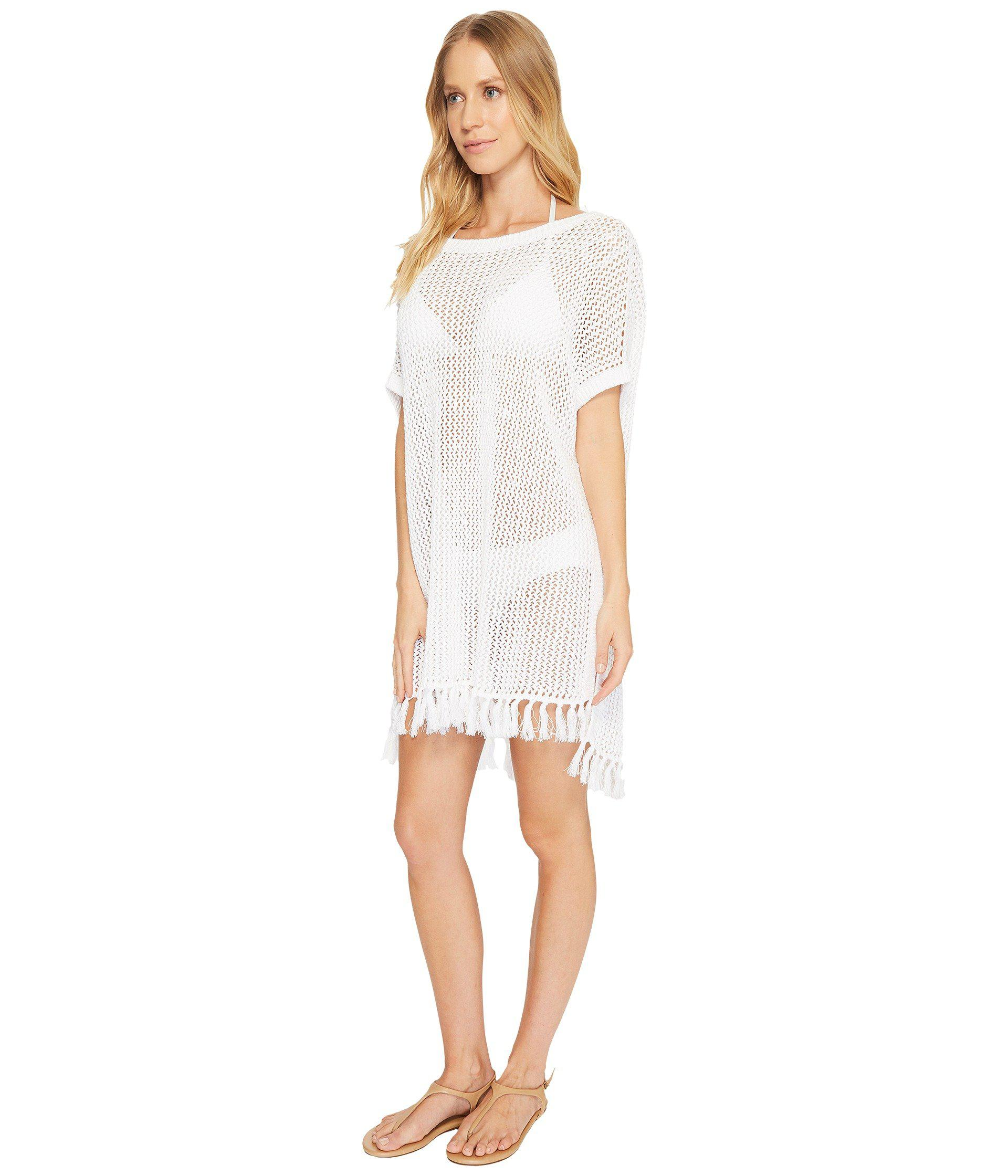 4dcaf262b6d8a Lyst - Tommy Bahama Slouchy Beach Sweater Cover-up in White