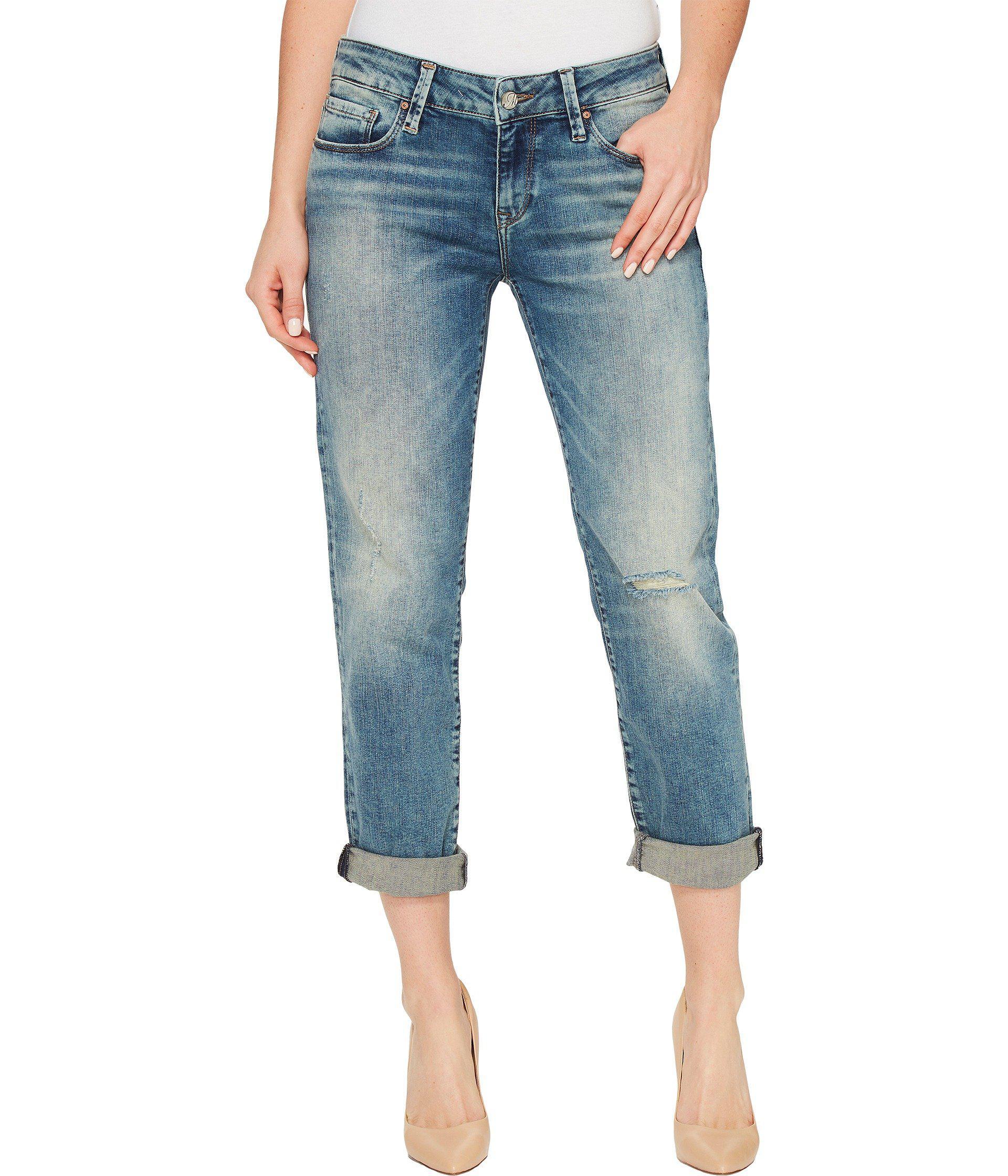 8598dcf3ca2 Lyst - Mavi Jeans Emma Slim Boyfriend In Mid Earthy Vintage in Blue