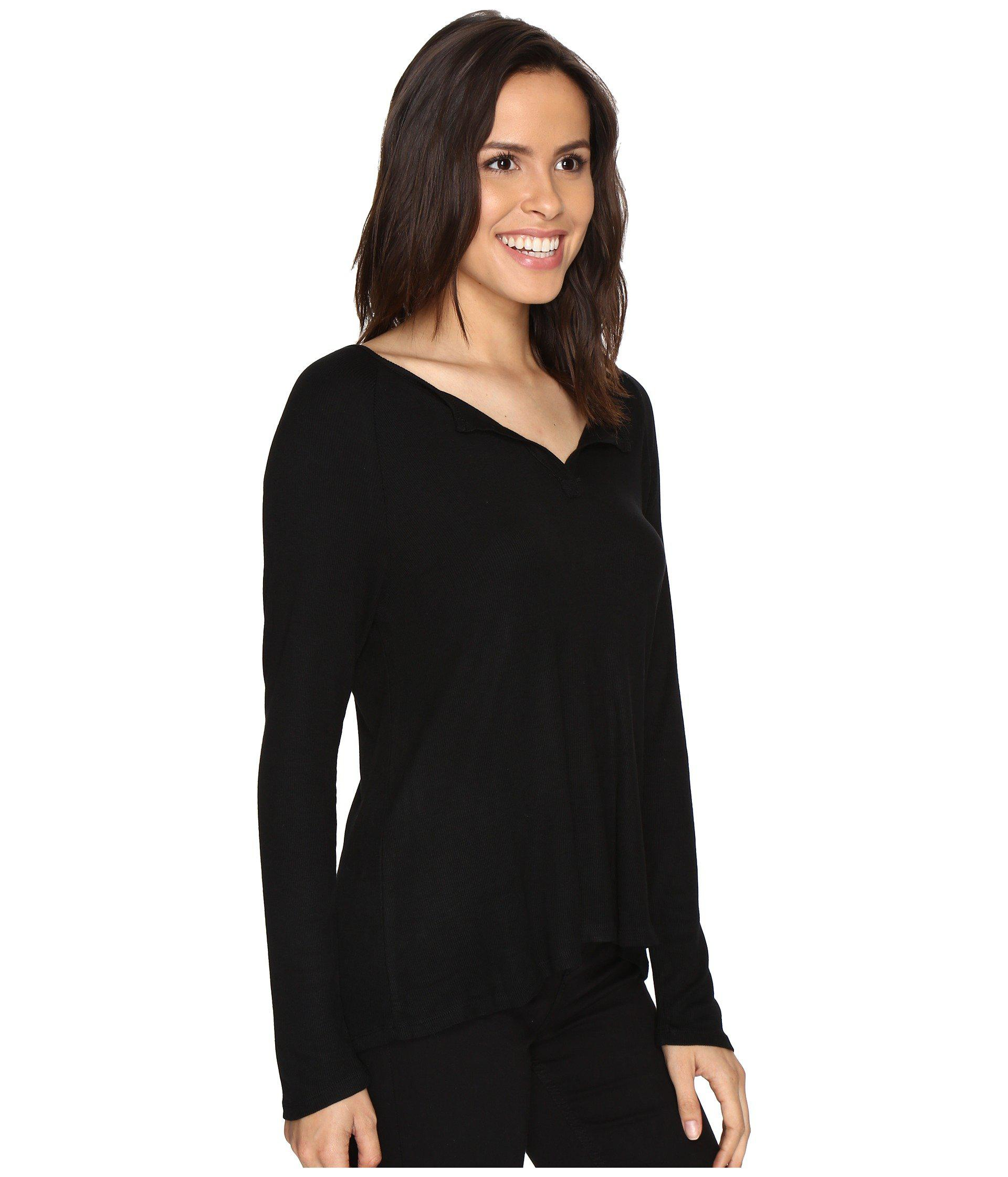 90d7387fcc01e Lyst - Culture Phit Cambria Long Sleeve Top in Black