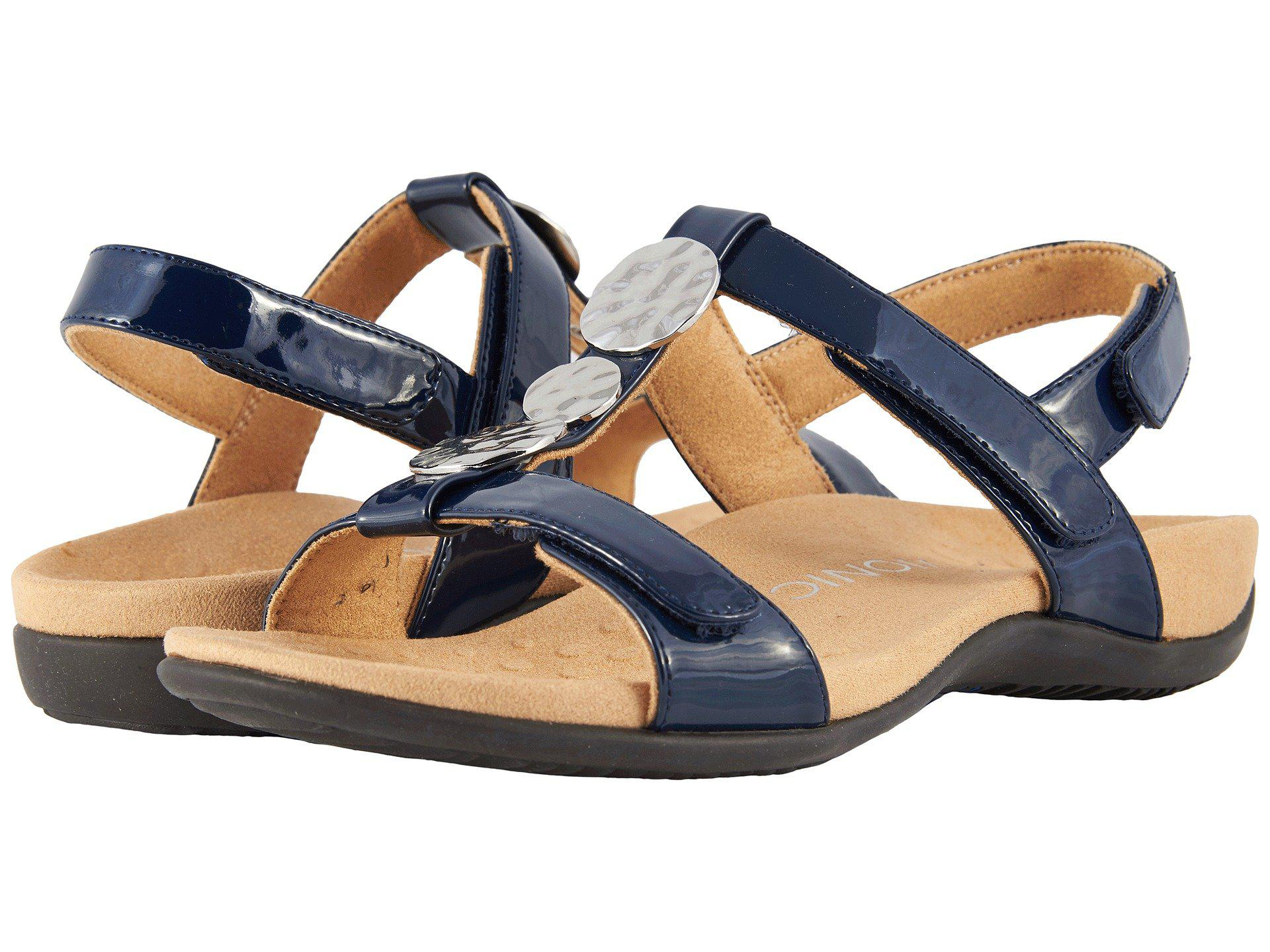 99b64acfb040 Lyst - Vionic Farra T-strap Sandal in Blue - Save 50.561797752808985%