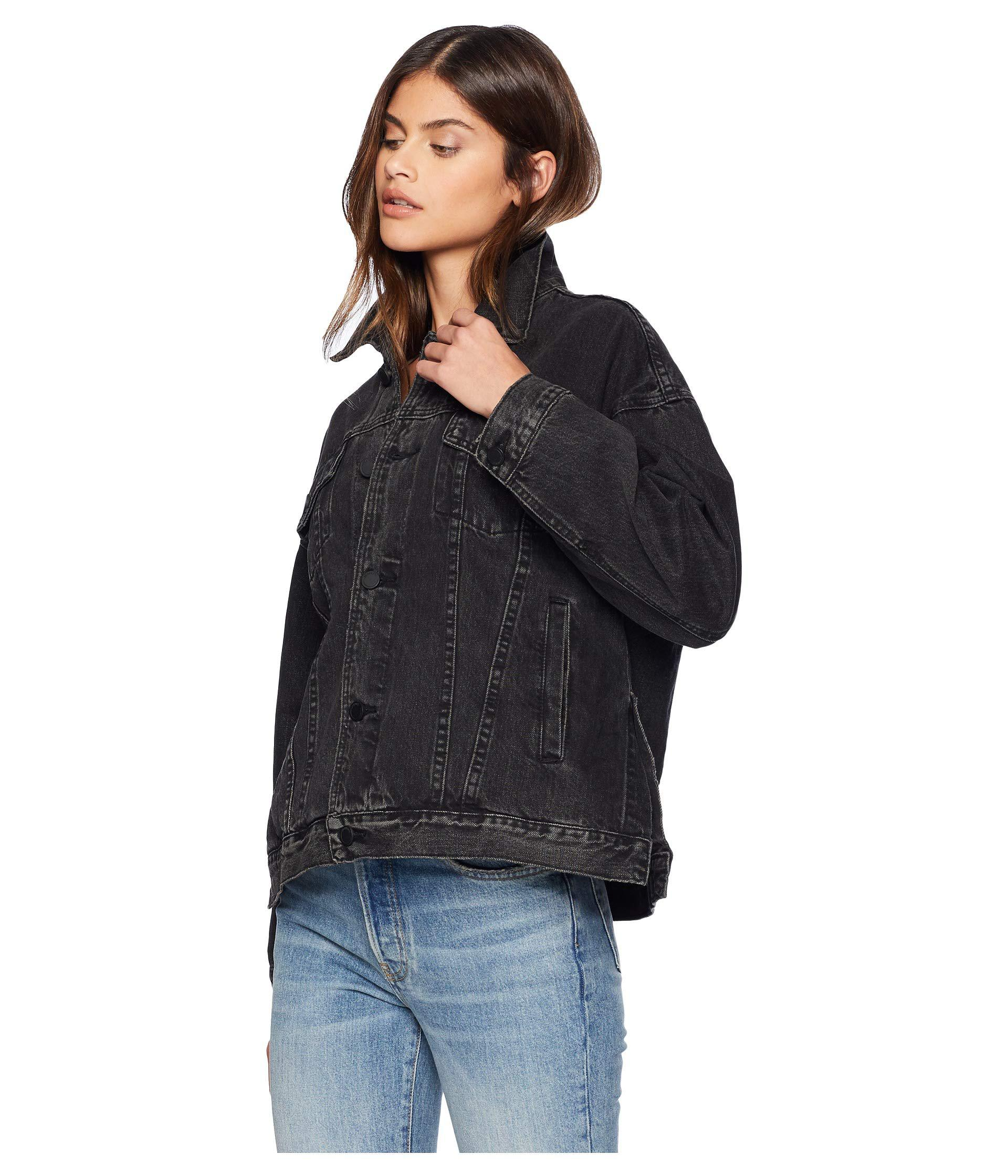 Lyst - Blank NYC Trucker Jacket In Dirty Harry in Black - Save 23% f666e5956