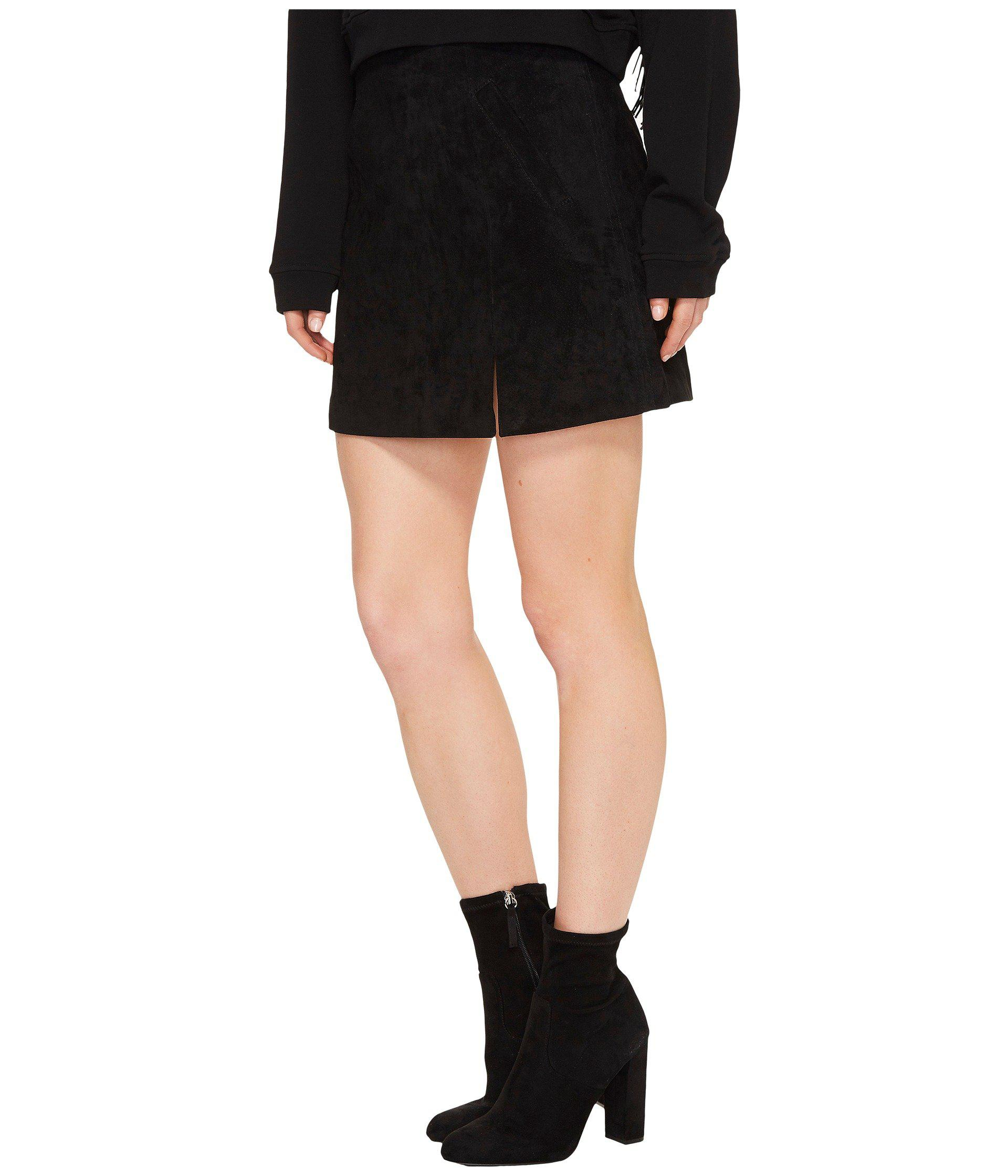 2c52ae1ea0 Lyst - Blank NYC Suede Mini Skirt In Black/seal The Deal in Black - Save 25%