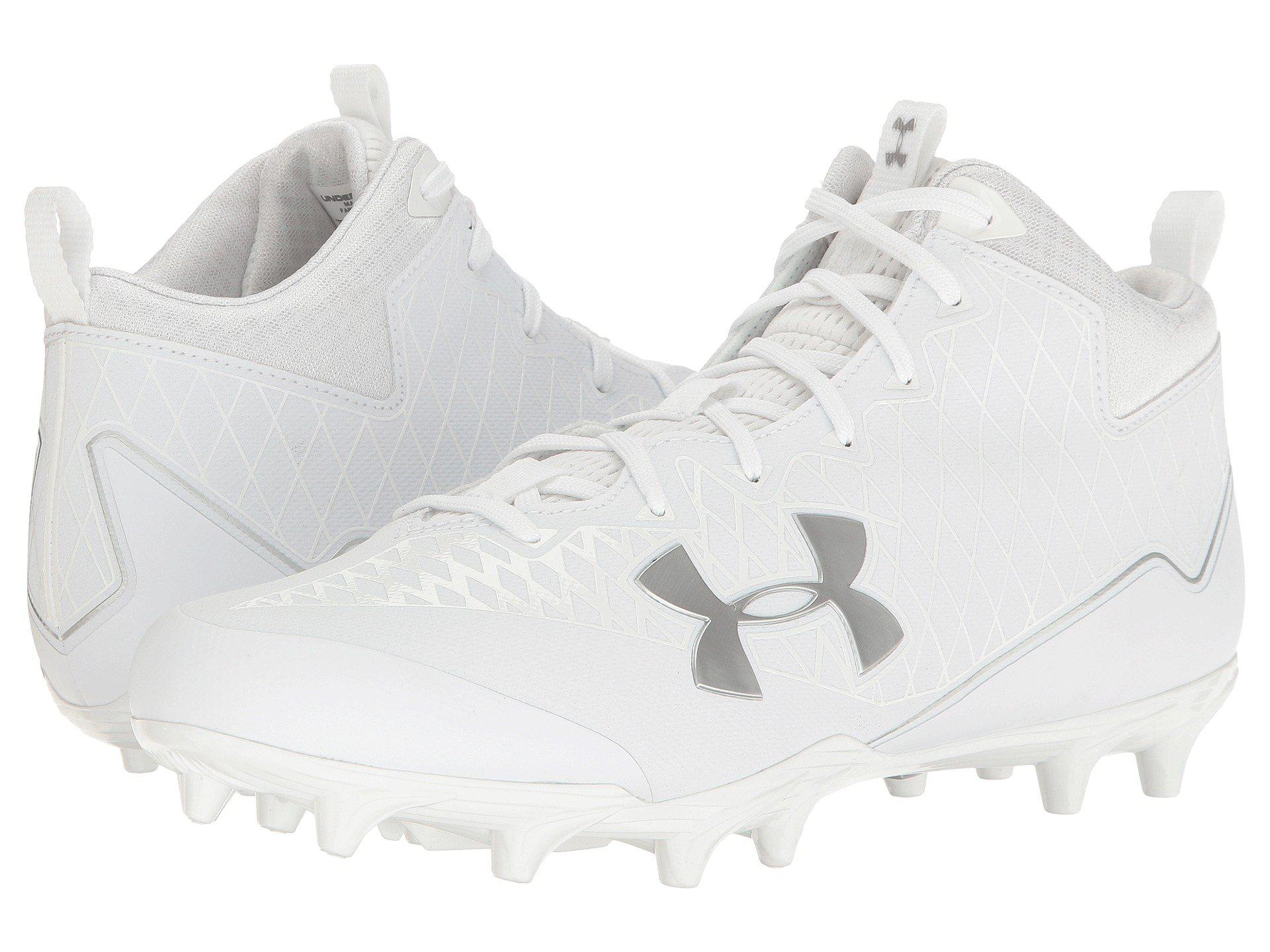 Under Armour. Men's White Ua Nitro Select Mid Mc