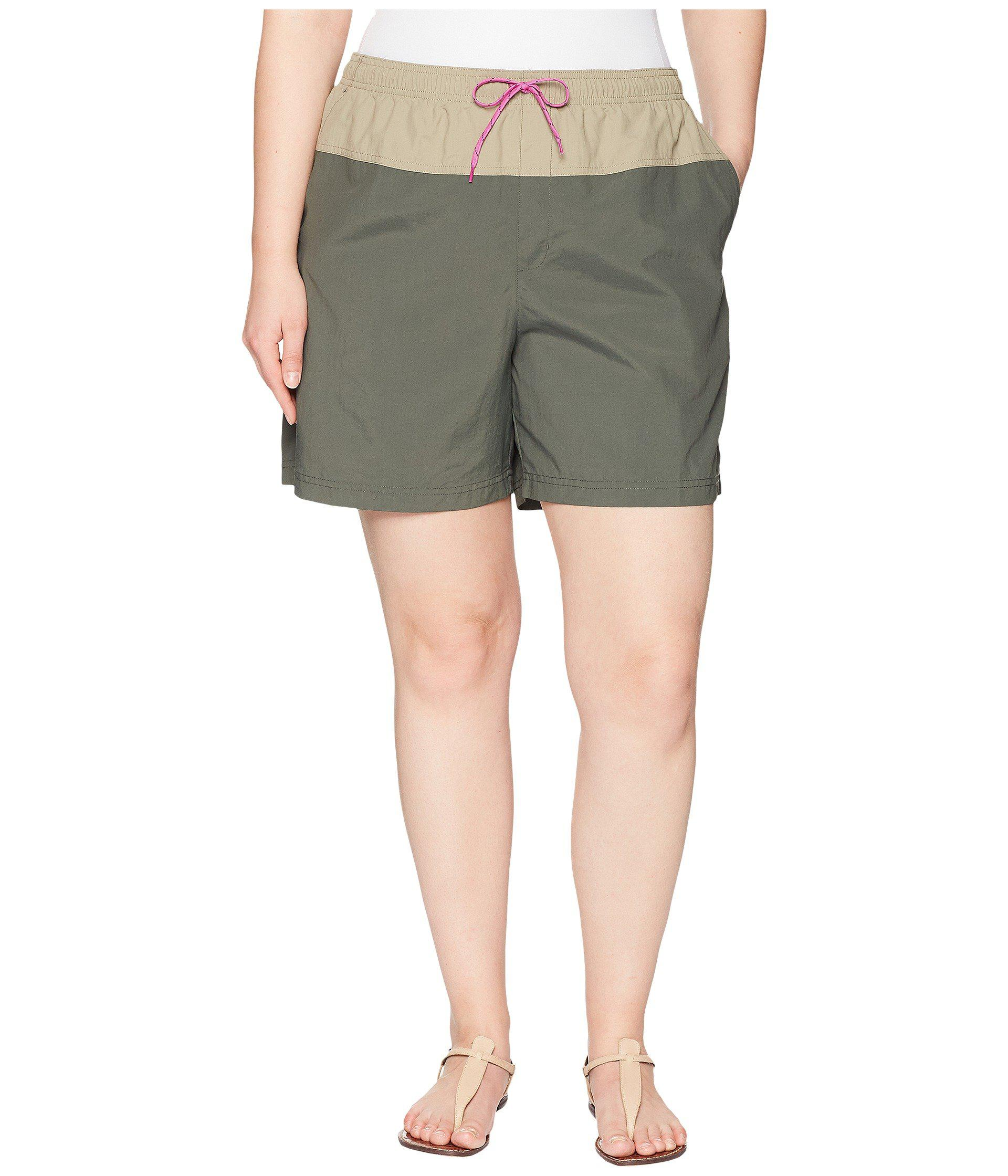 3371131ec2 Lyst - Columbia Plus Size Sandy Rivertm Color Blocked Shorts in ...