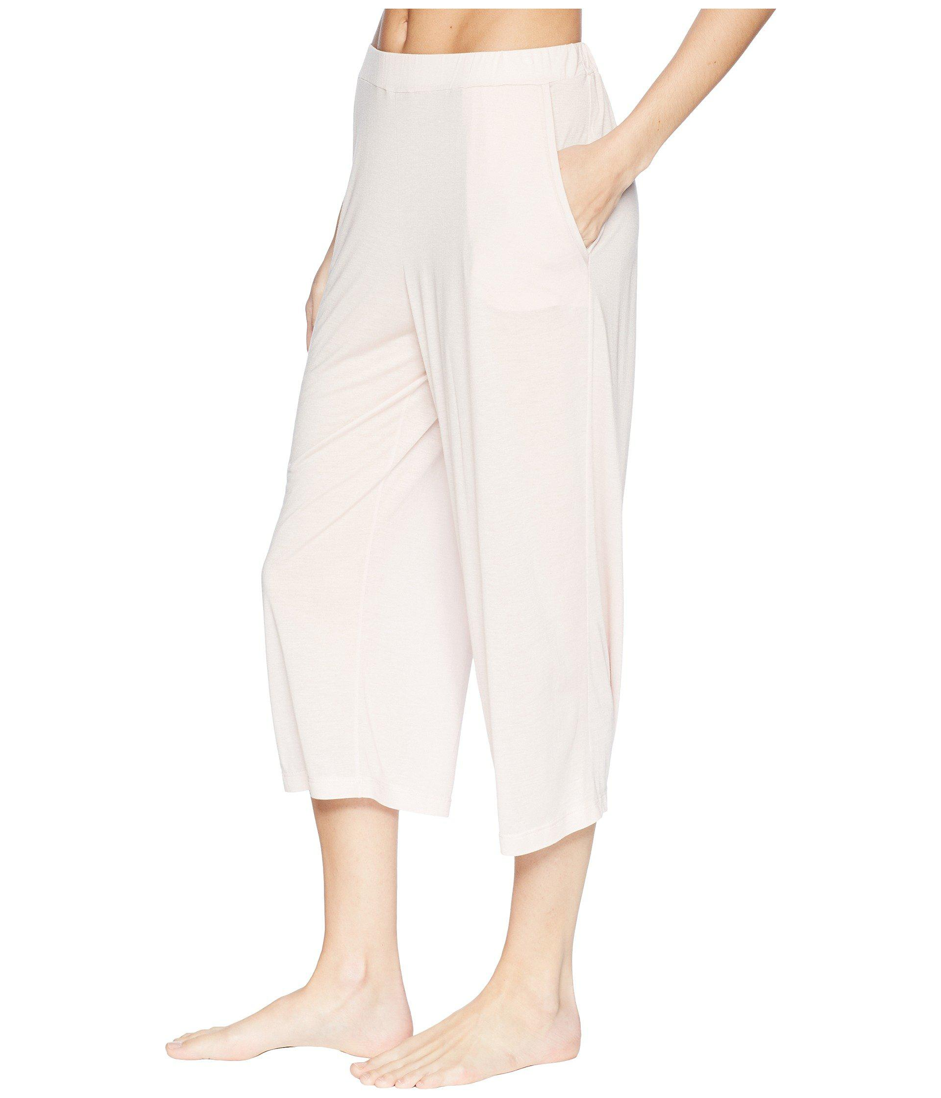 10b9a809b0 Lyst - Hanro Malva Crop Pants in Pink - Save 36.231884057971016%