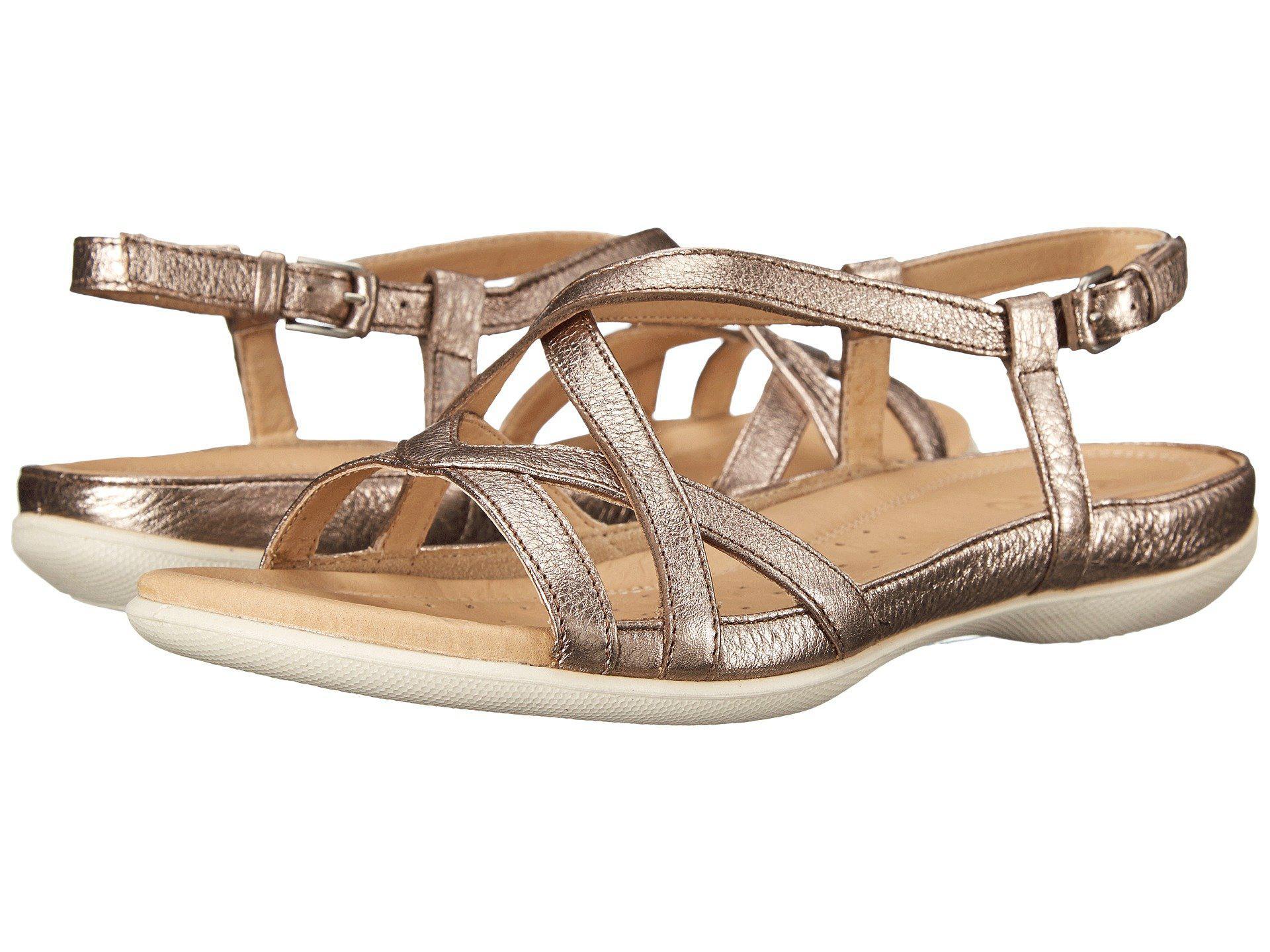92a053df4af Lyst - Ecco Flash Cross Strap Sandal in Metallic