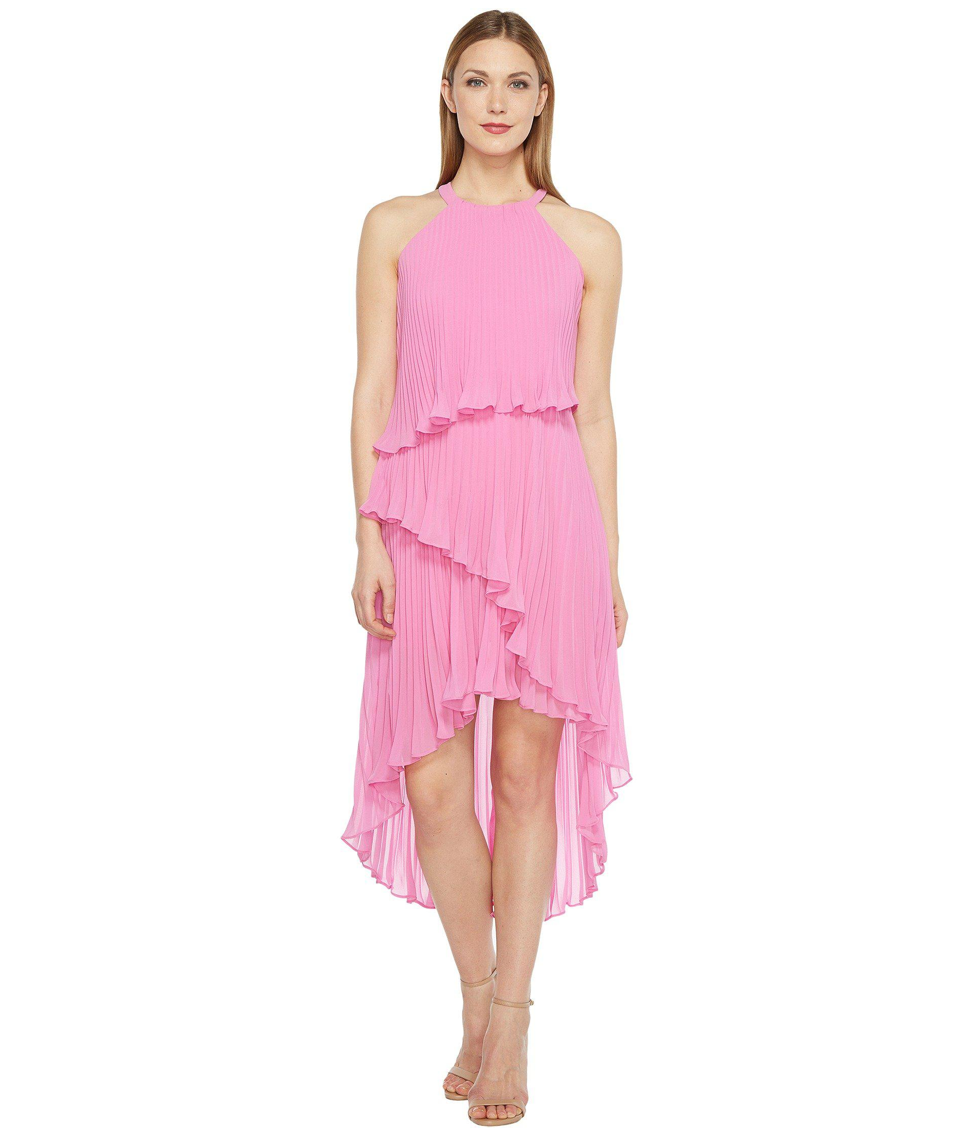 6021efcf45 Lyst - Laundry by Shelli Segal Tiered Chiffon Dress in Pink