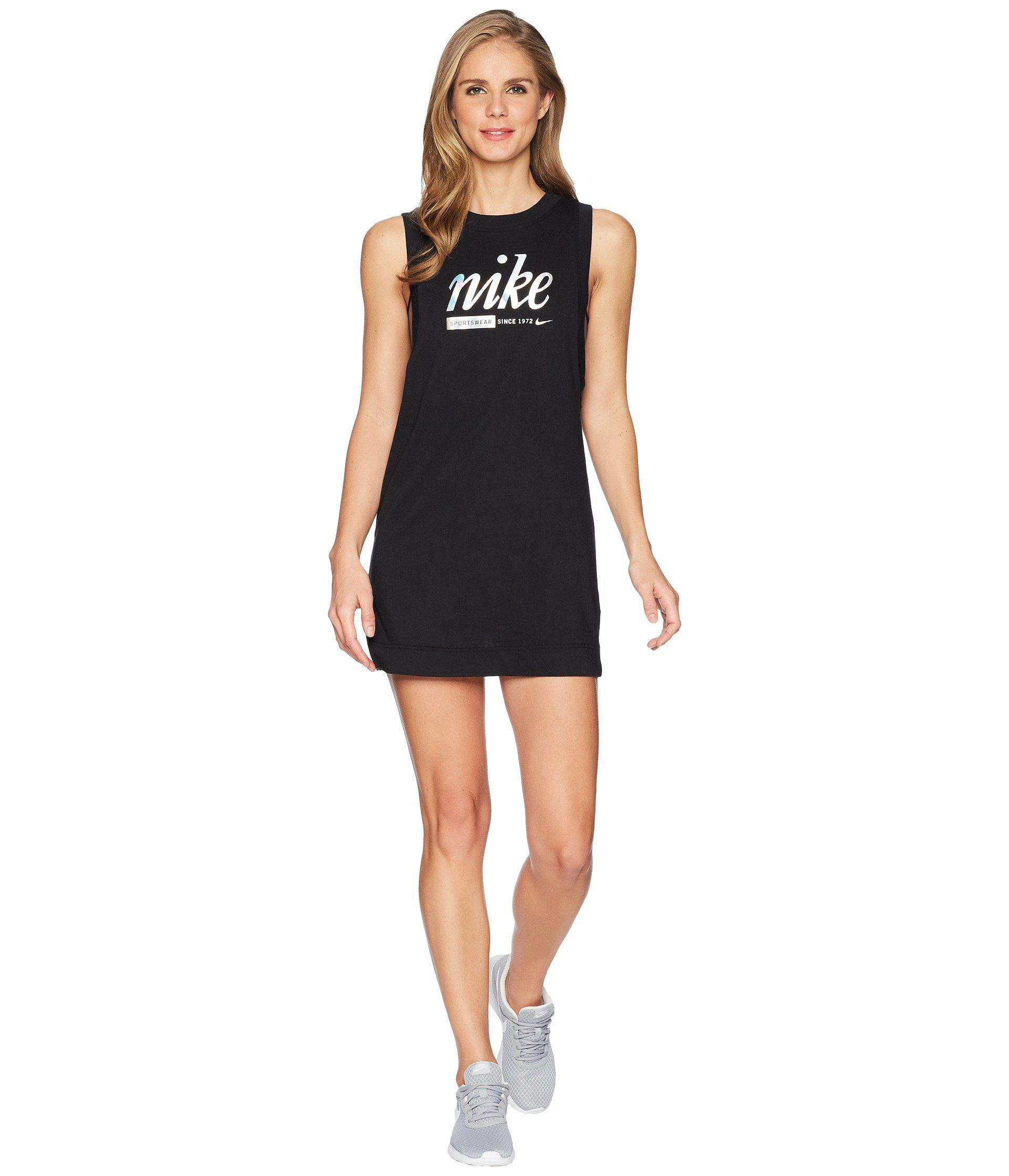 50923b52efa124 Lyst - Nike Sportswear Metallic Dress in Black - Save 29%