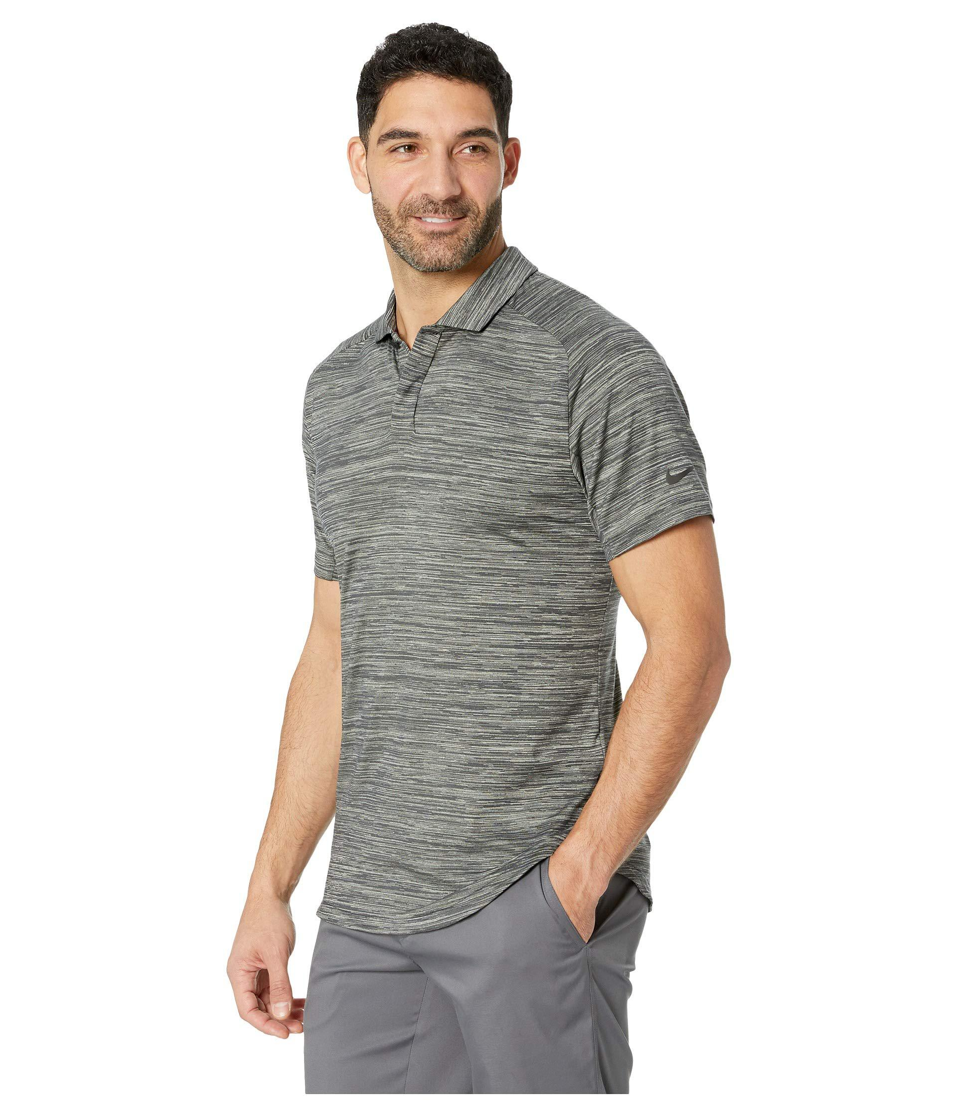 0cd0259f Lyst - Nike Dry Polo Heather Raglan in Black for Men - Save 13%
