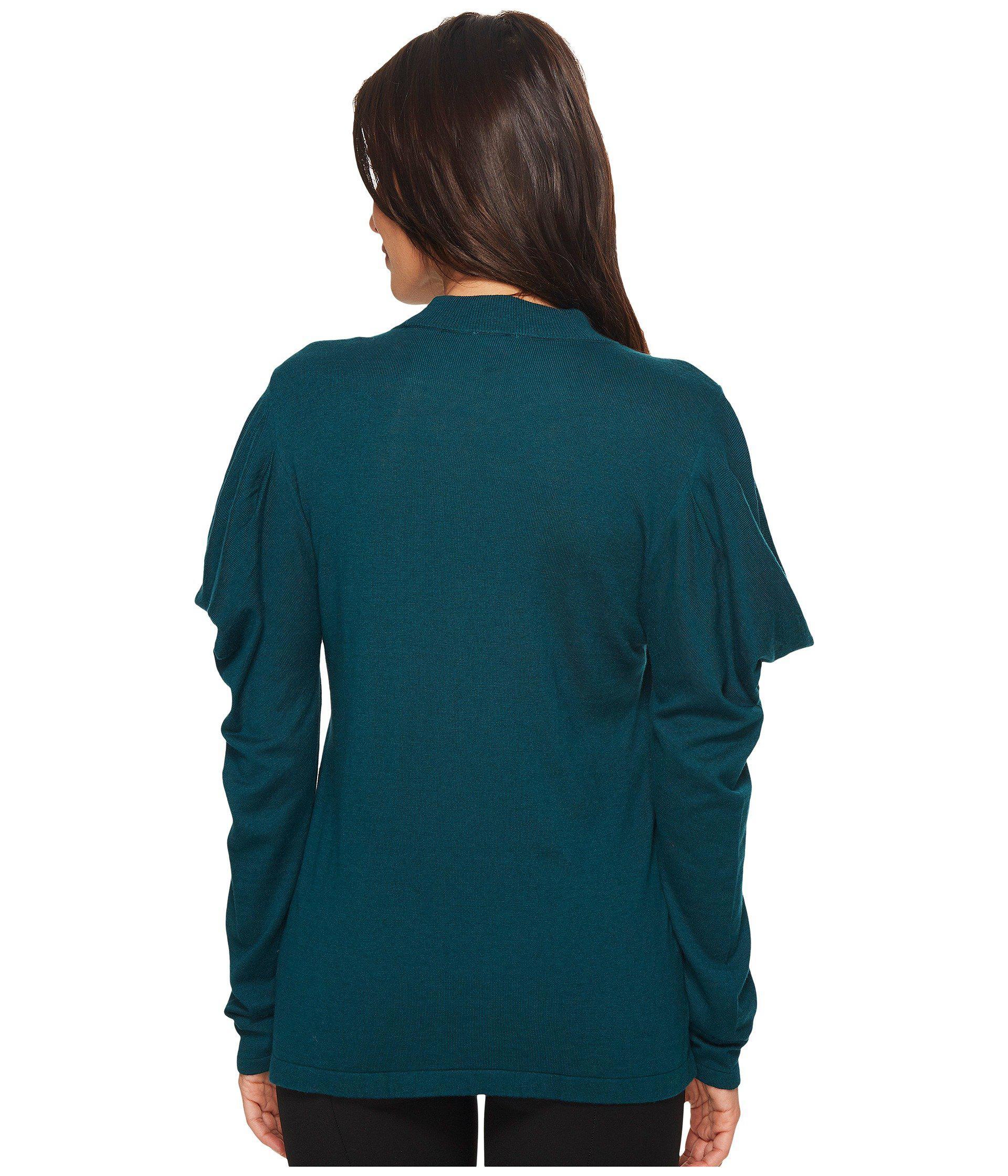 da6cac94a3819 ... Long Sleeve Mock Neck Drape Shoulder Sweater - Lyst. View fullscreen