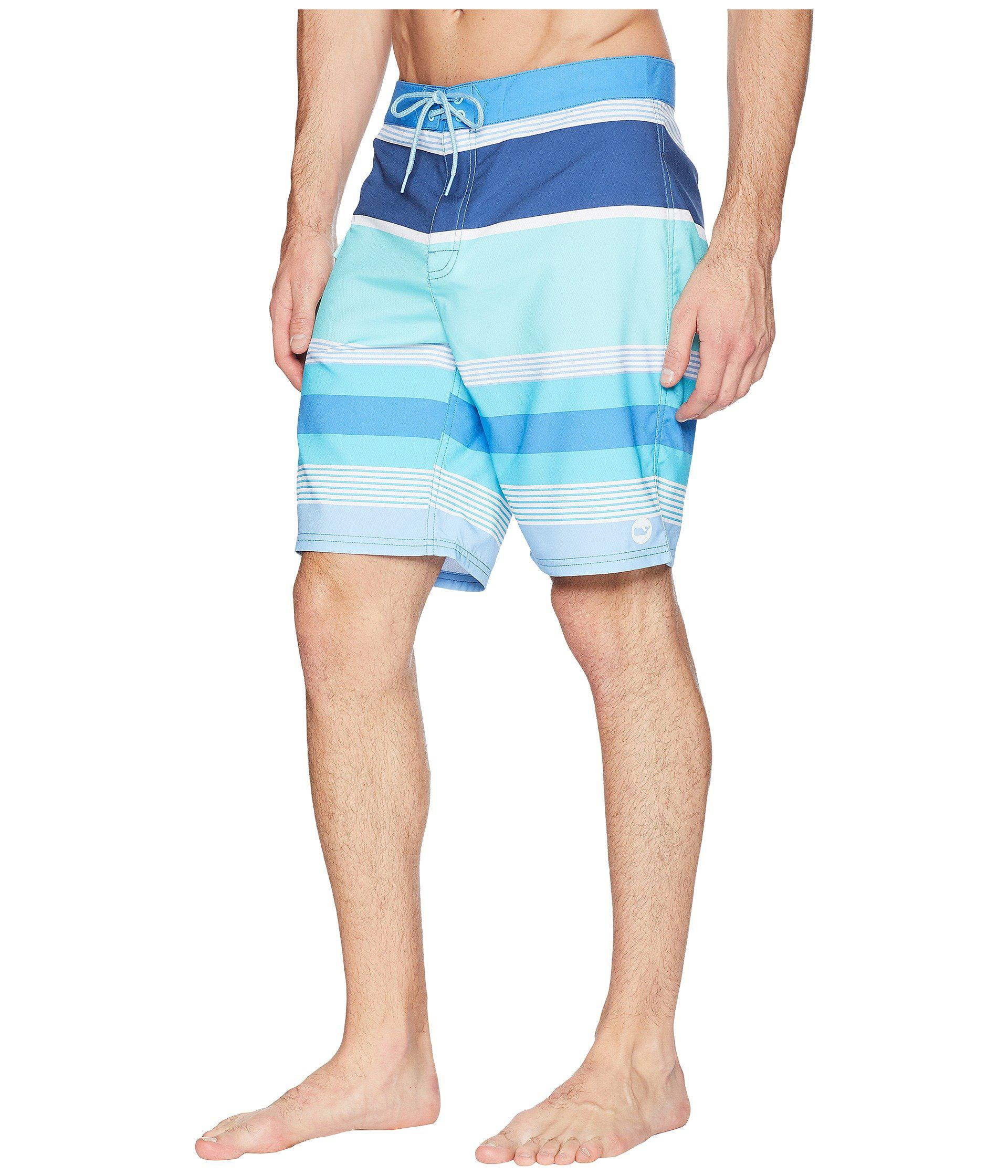 5428ea30515b8 Lyst - Vineyard Vines Peaks Island Stripe Boardshorts in Blue for Men -  Save 35%