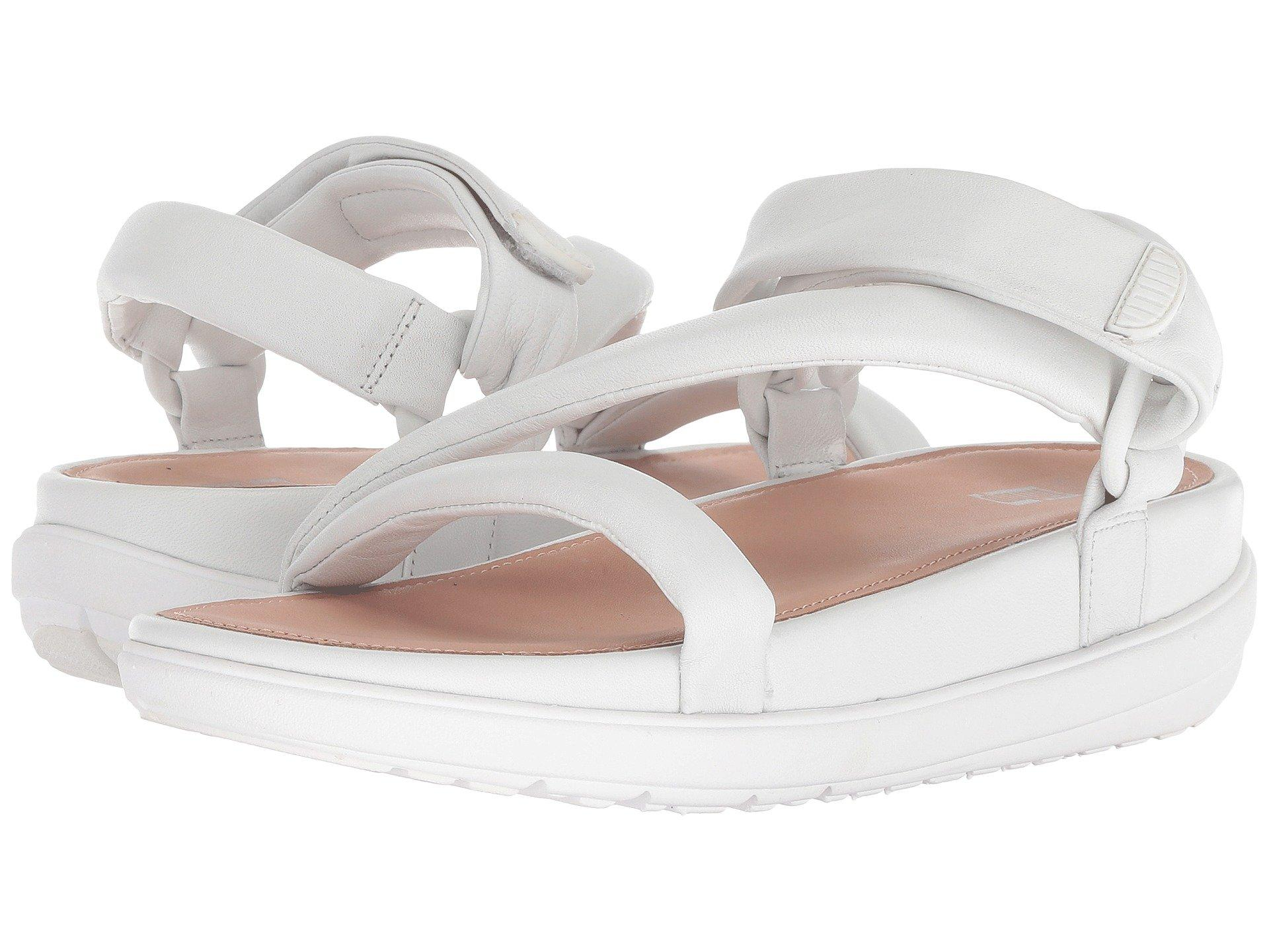 7971c28faff8b3 Lyst - Fitflop Loosh Luxetm Z-strap Leather Sandals in White - Save 43%