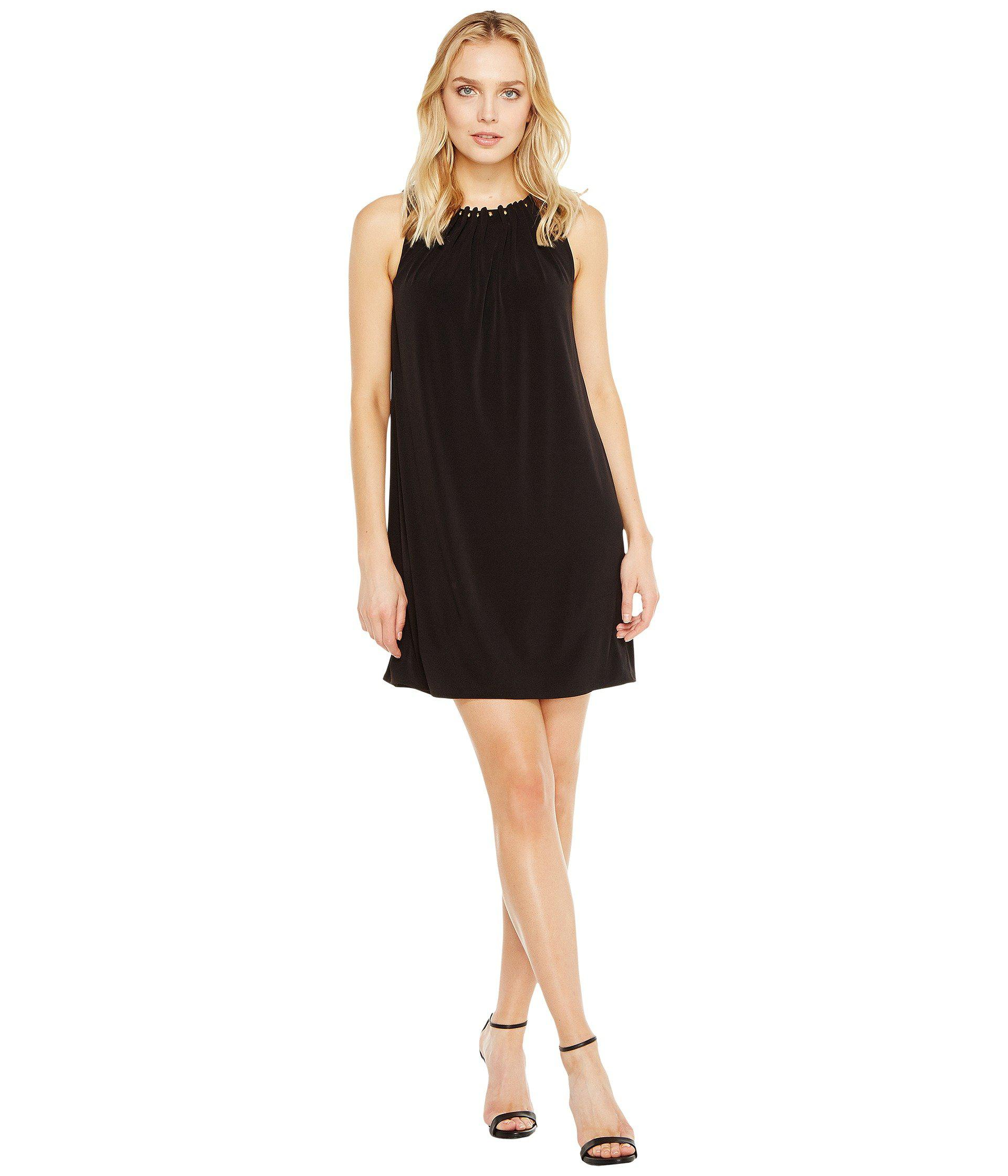 10639a44ebb50 Lyst - Tahari Jersey Shift Dress With Gold Necklace in Black - Save 58%