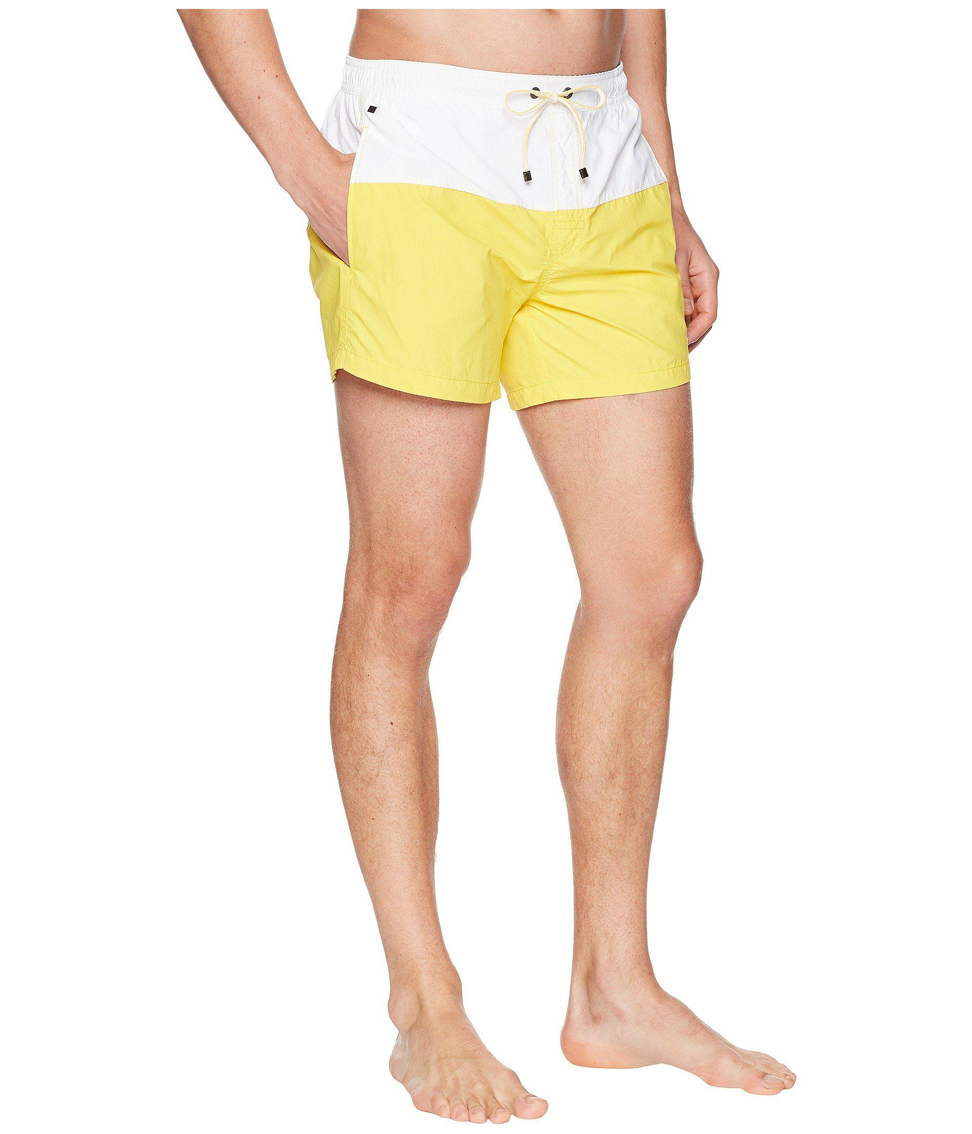 7c44300e BOSS Flounder Swim Trunk in Yellow for Men - Lyst