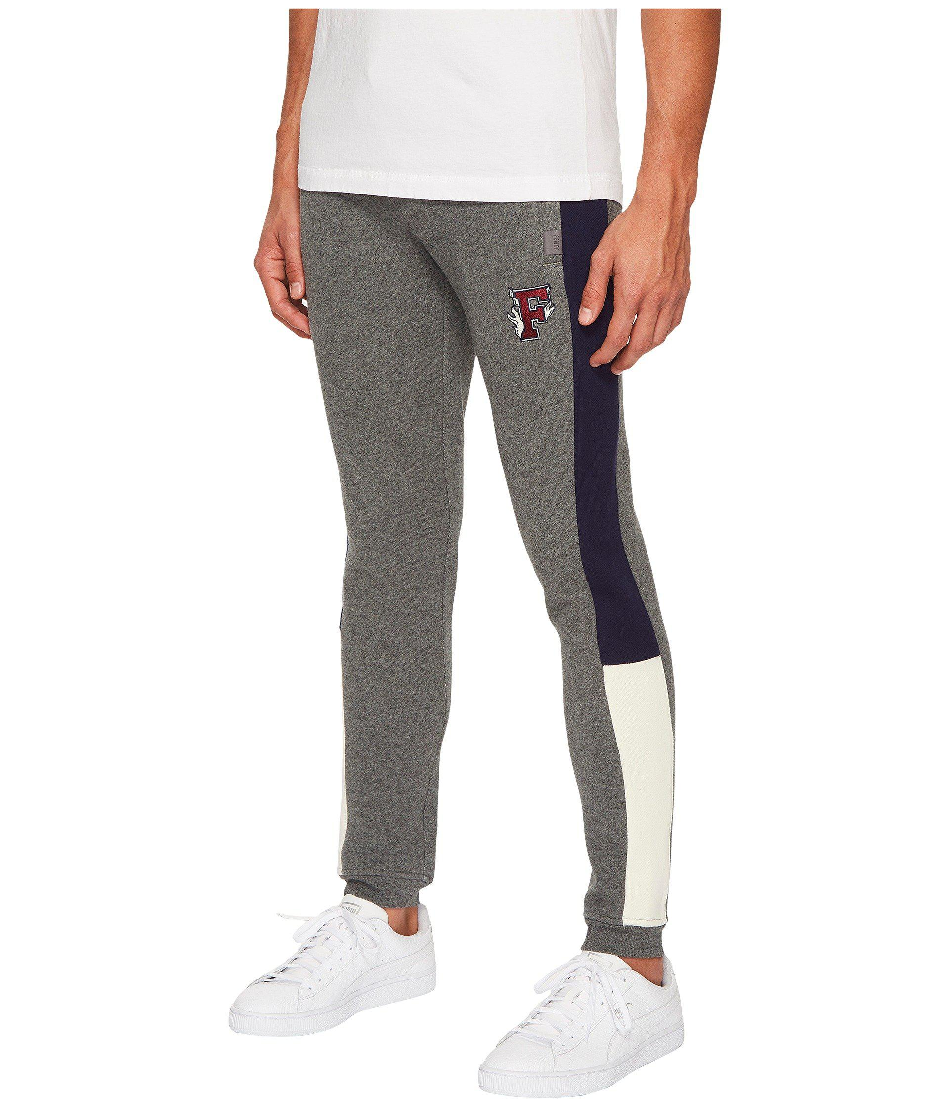 63b60461c445 Lyst - PUMA X Fenty By Rihanna Fitted Panel Sweatpants in Gray for Men