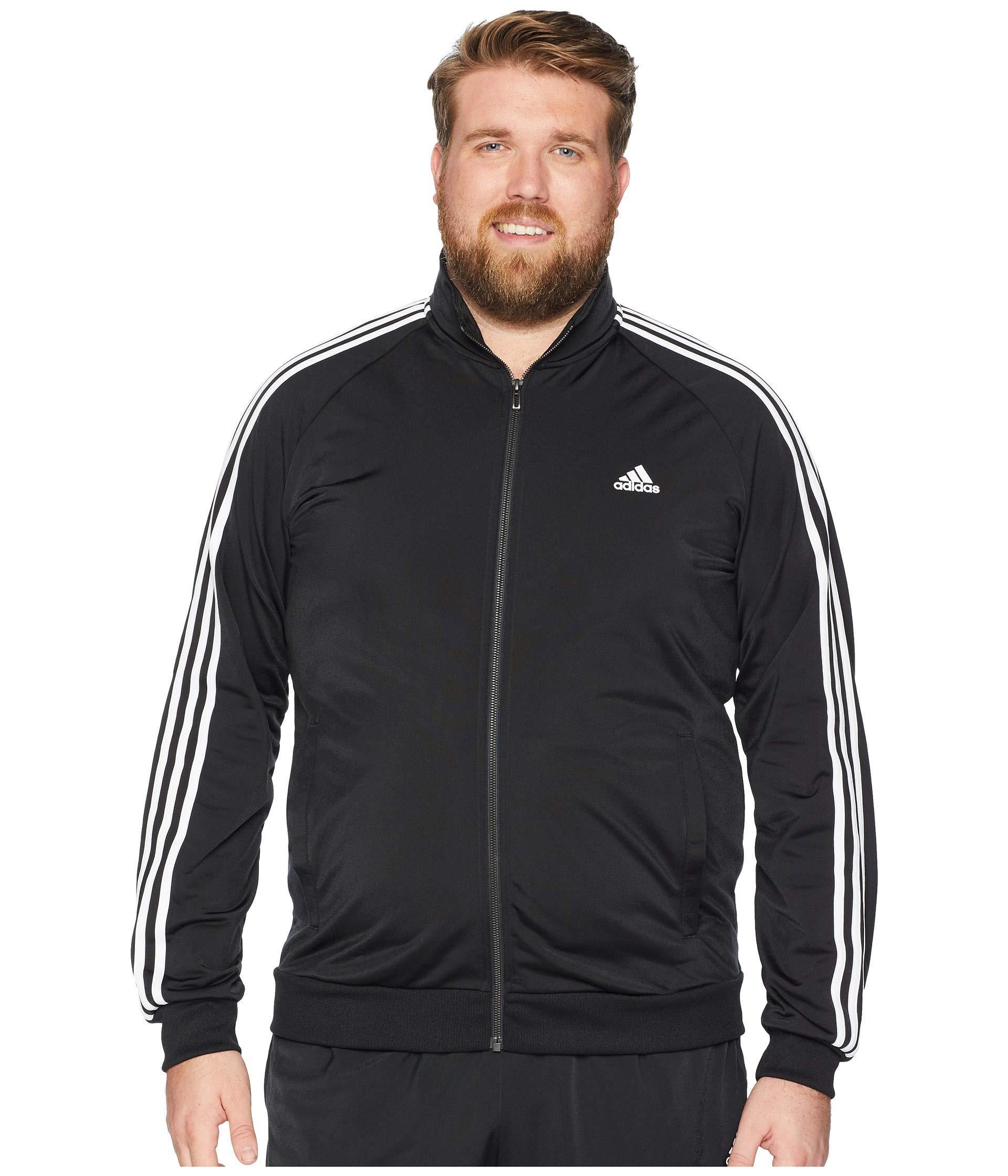 974d5728fac4 Lyst - adidas Big   Tall Essentials 3-stripes Tricot Track Jacket in ...