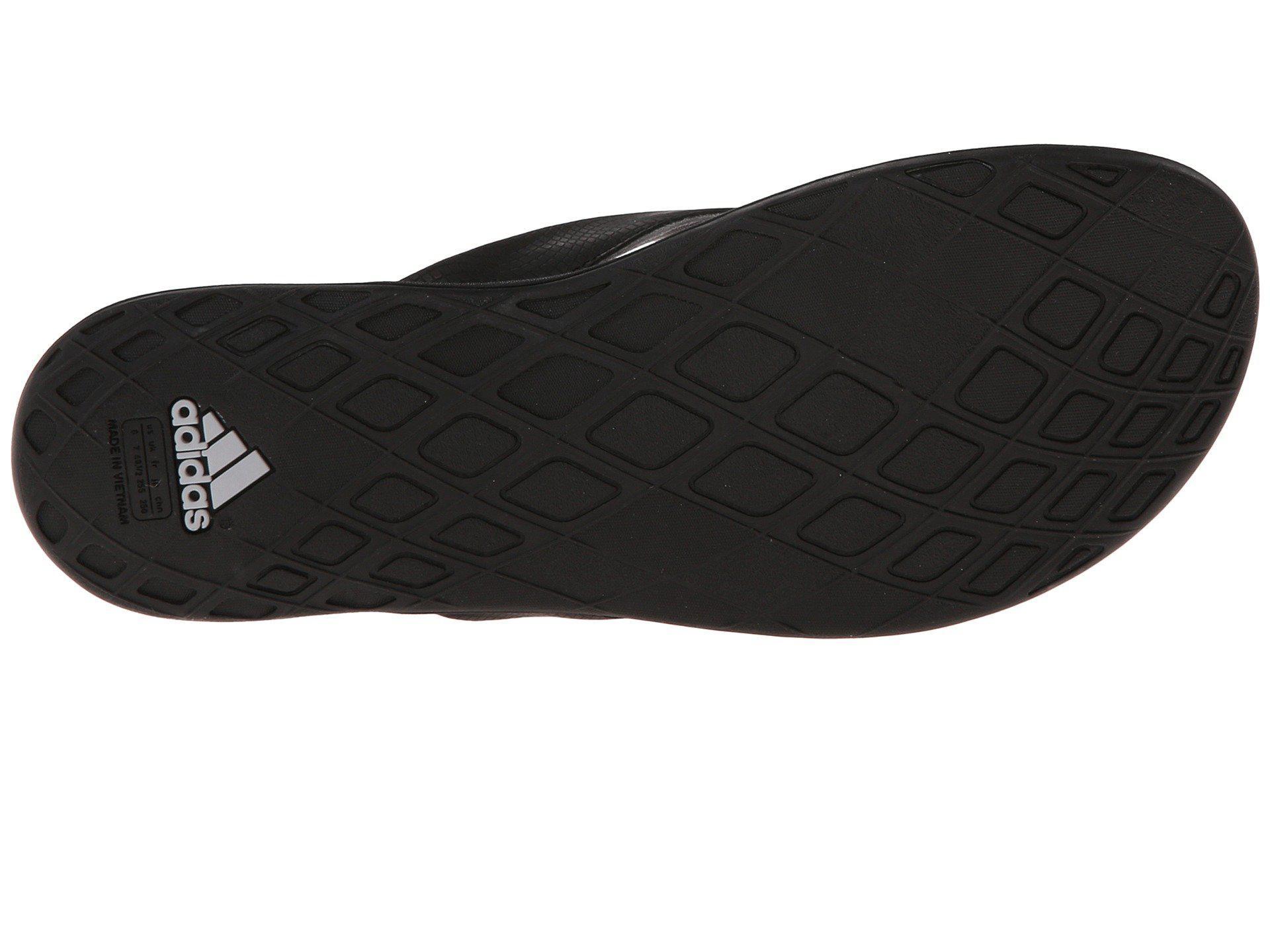Lyst Adidas Cloudfoam Ultra Thong In Black