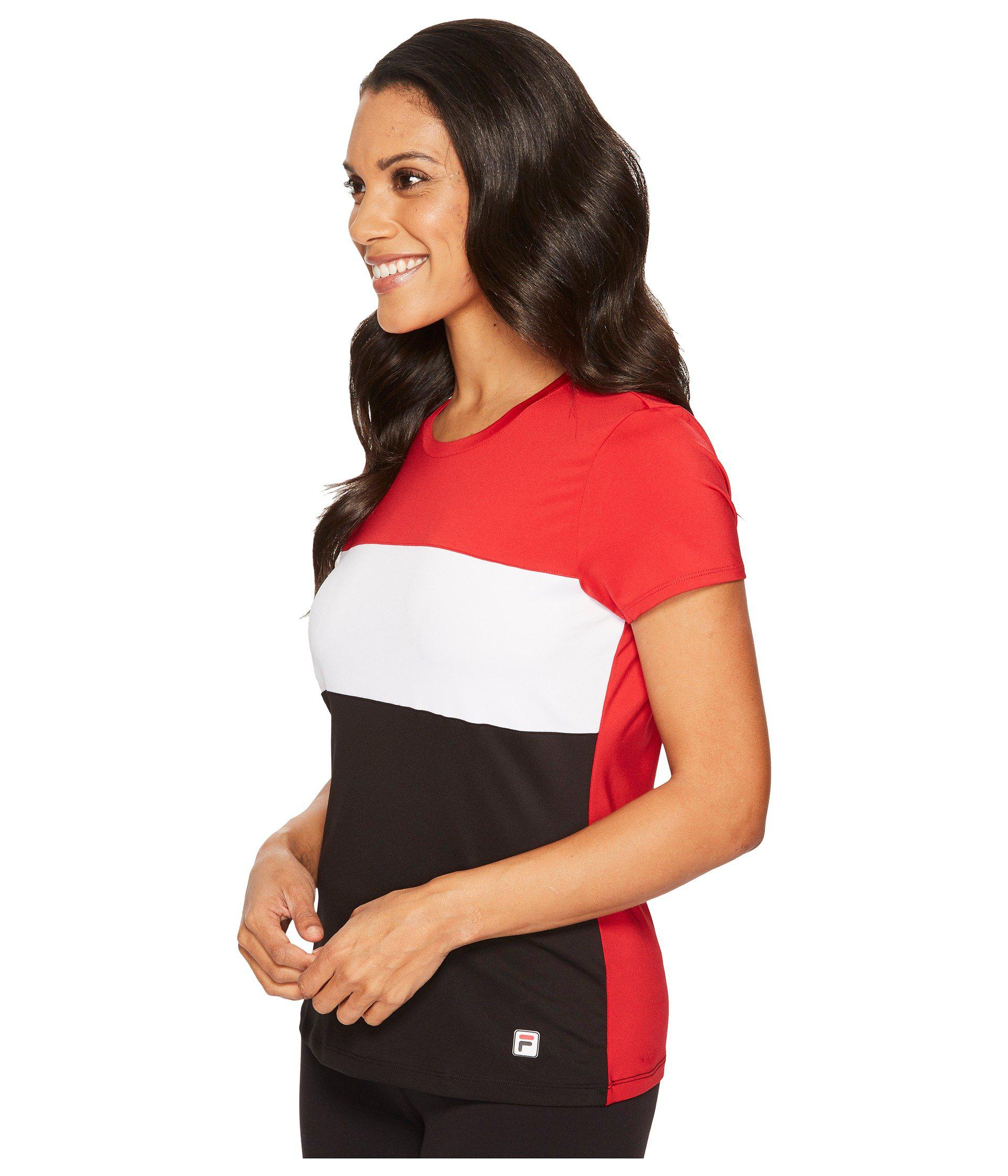 1e64091a1c00ef Lyst - Fila Heritage Tennis Cap Sleeve Top in Red