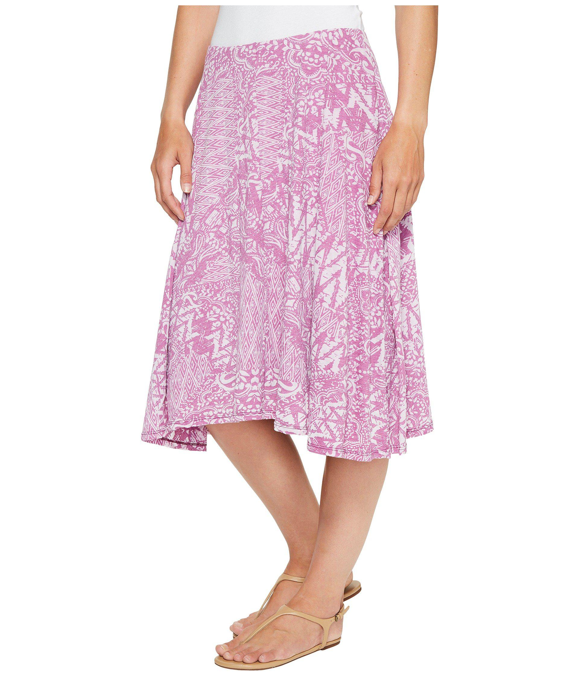 aa0e95b1005 Lyst - Mod-o-doc Patchwork Burnout Jersey Swing Skirt With Lining in Pink - Save  56%