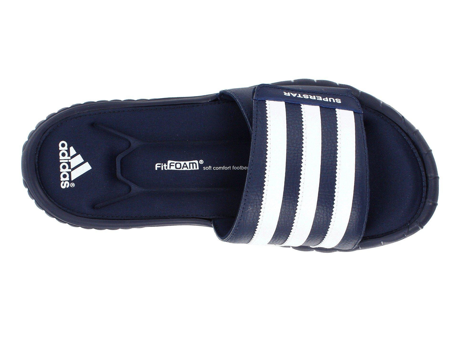 b61f27964294 ... germany adidas blue superstar 3g slide for men lyst. view fullscreen  c6f7e 02bae cheap adidas mens superstar 3g slides sandals ...