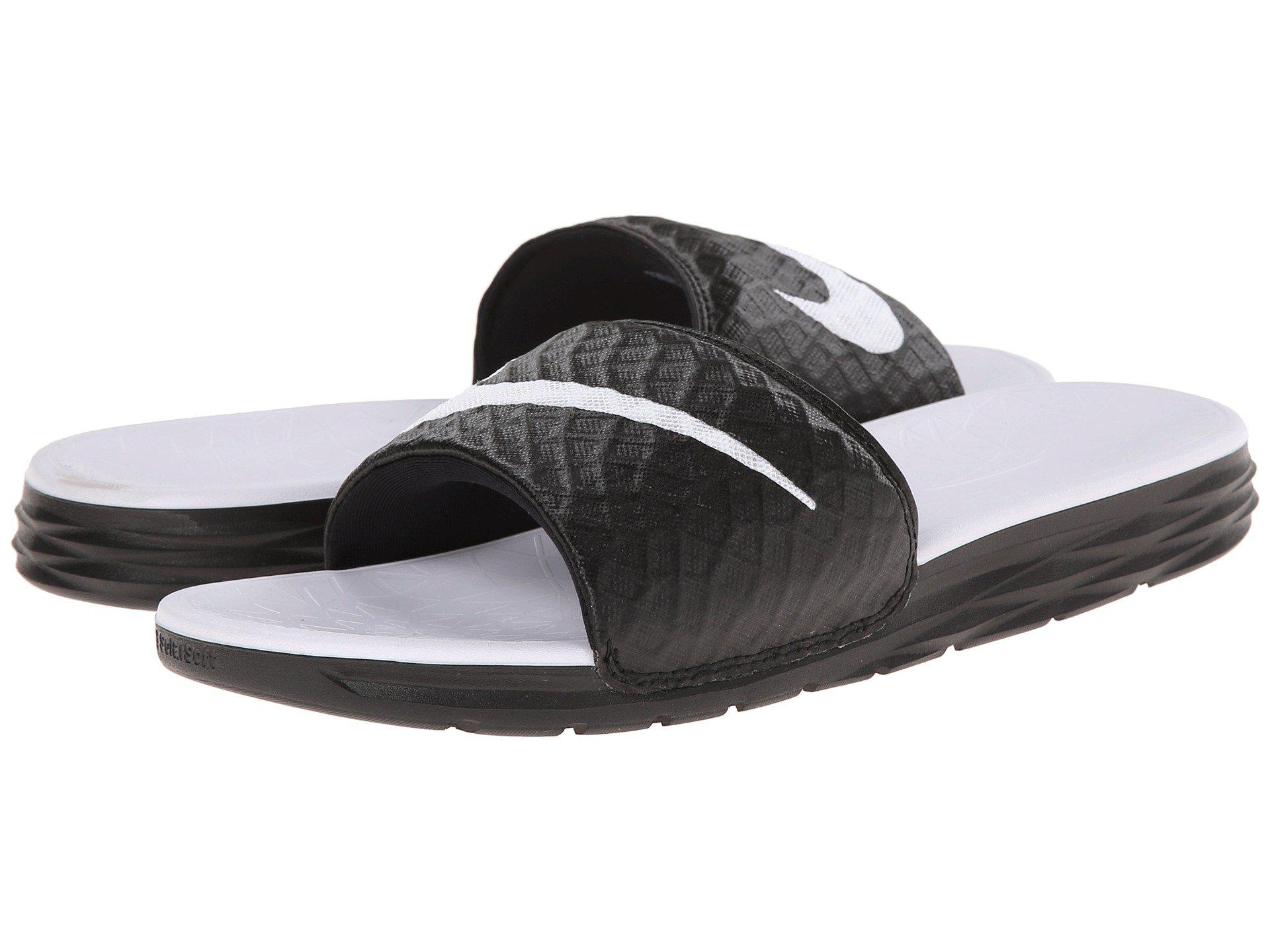 finest selection 6f483 7031f Lyst - Nike Benassi Solarsoft Slide 2 in Black