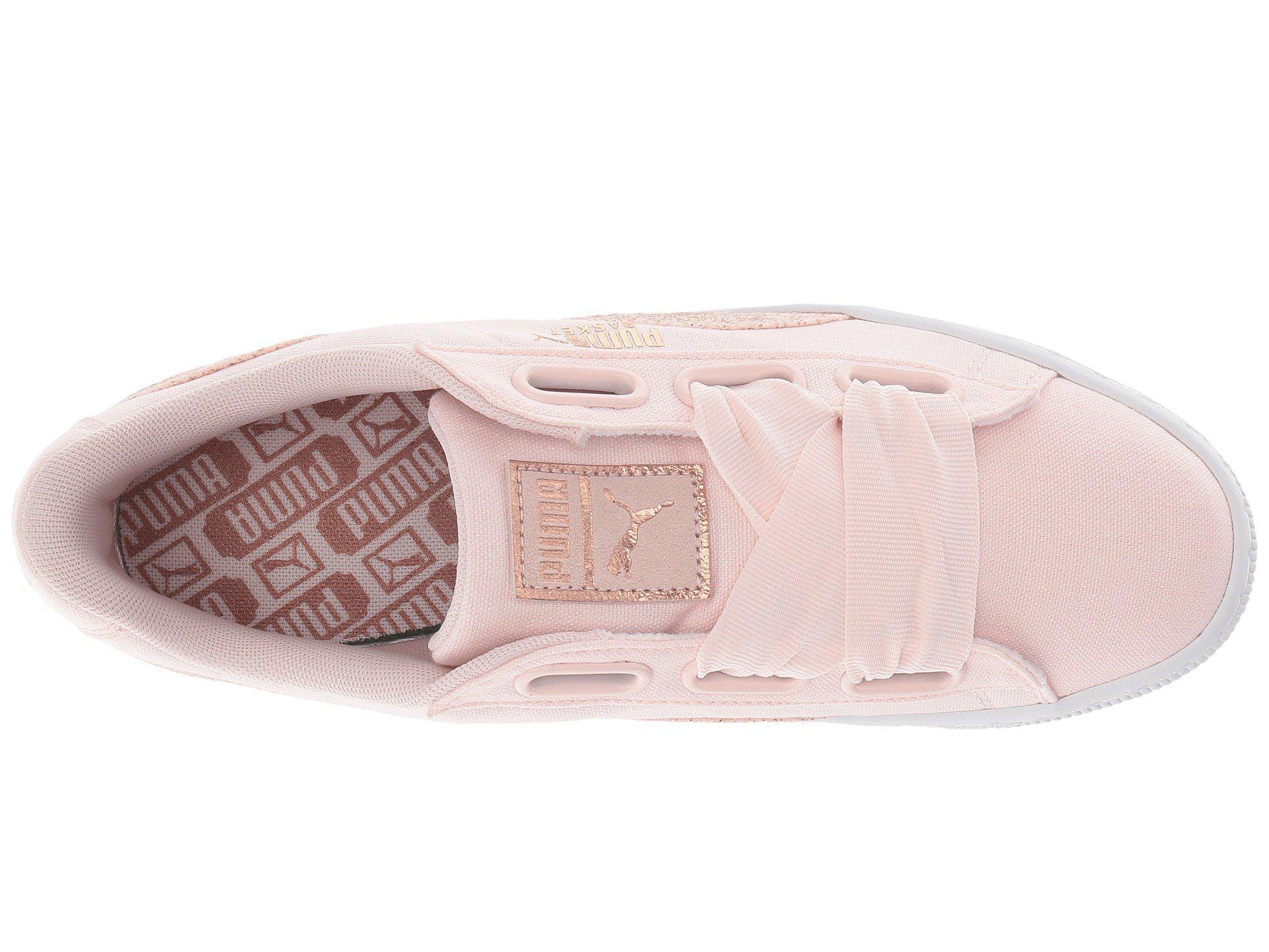 705175b96c5267 Lyst - PUMA Basket Heart Canvas in Pink