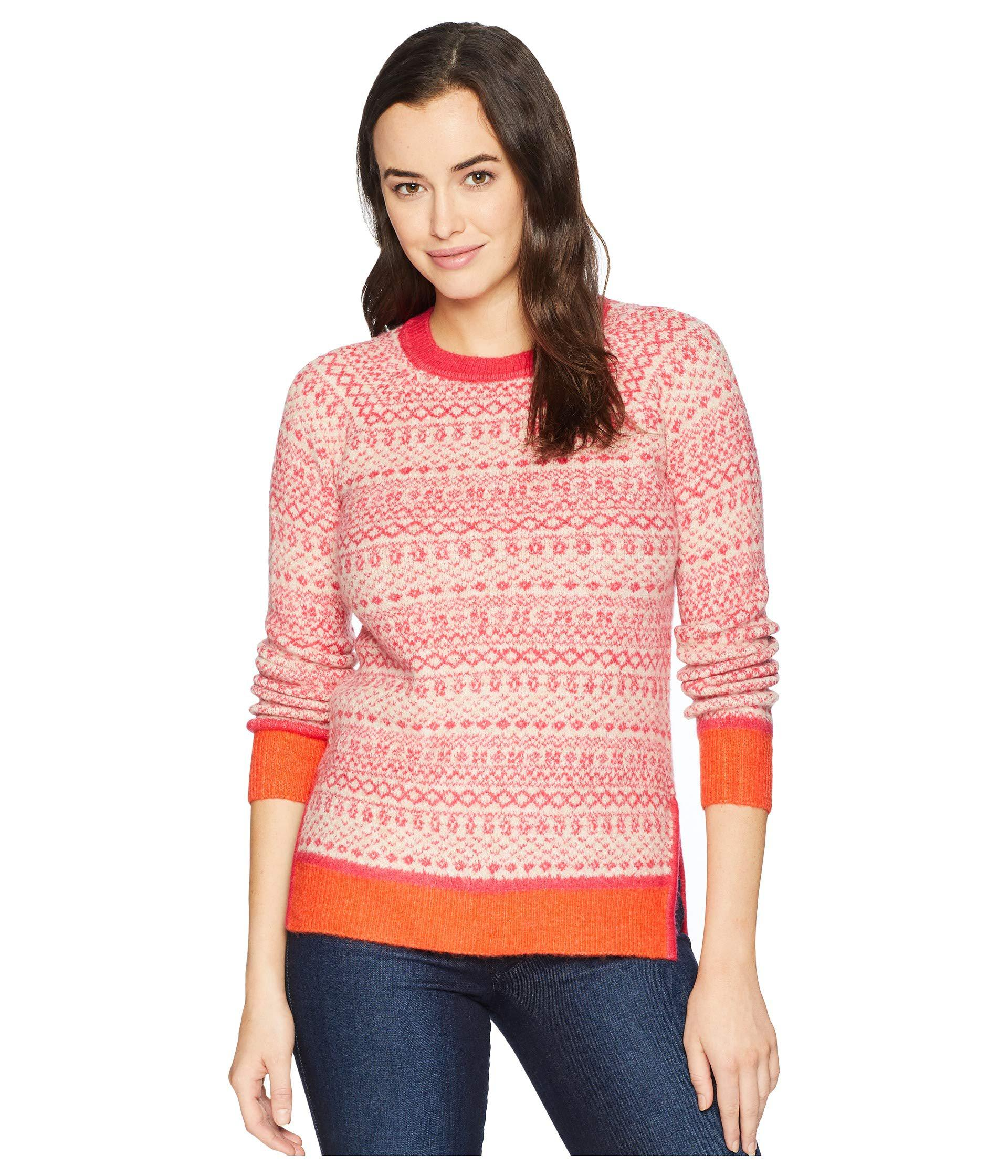 cb63684217c7 Lyst - Joules Justina Fair Isle Hem Sweater in Pink - Save ...