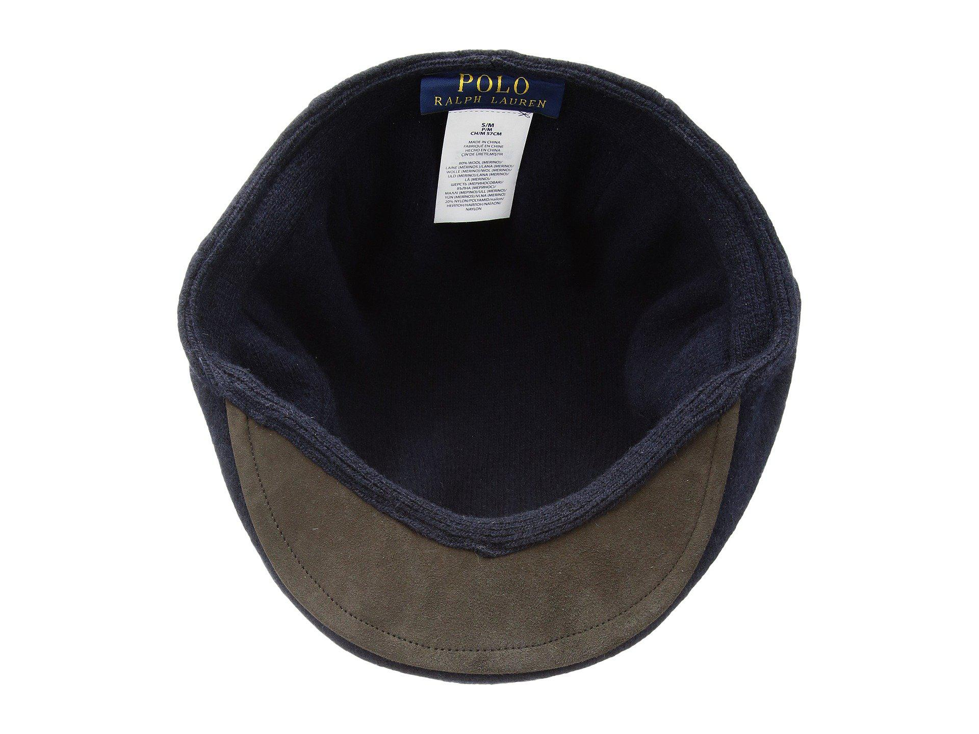 aeb240bb9 Lyst - Polo Ralph Lauren Solid Driver Cap in Blue for Men