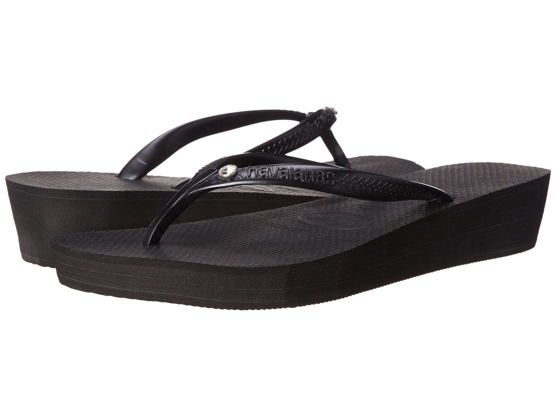 5f3bbbf8b Lyst - Havaianas Highlight Glamour Flip Flops in Black