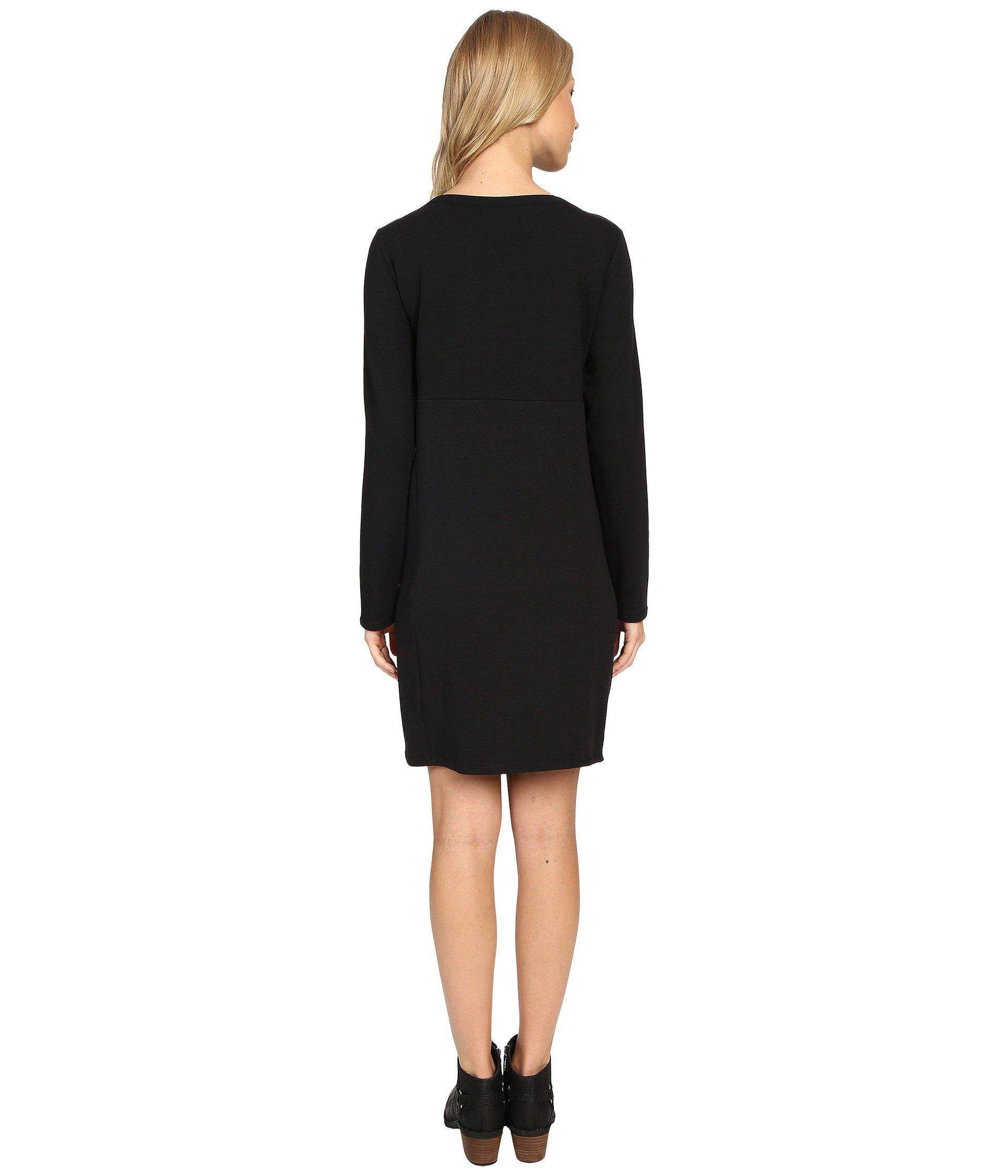 8482cb89b1 Lyst - Nau Elementerry Boat Neck Dress in Black