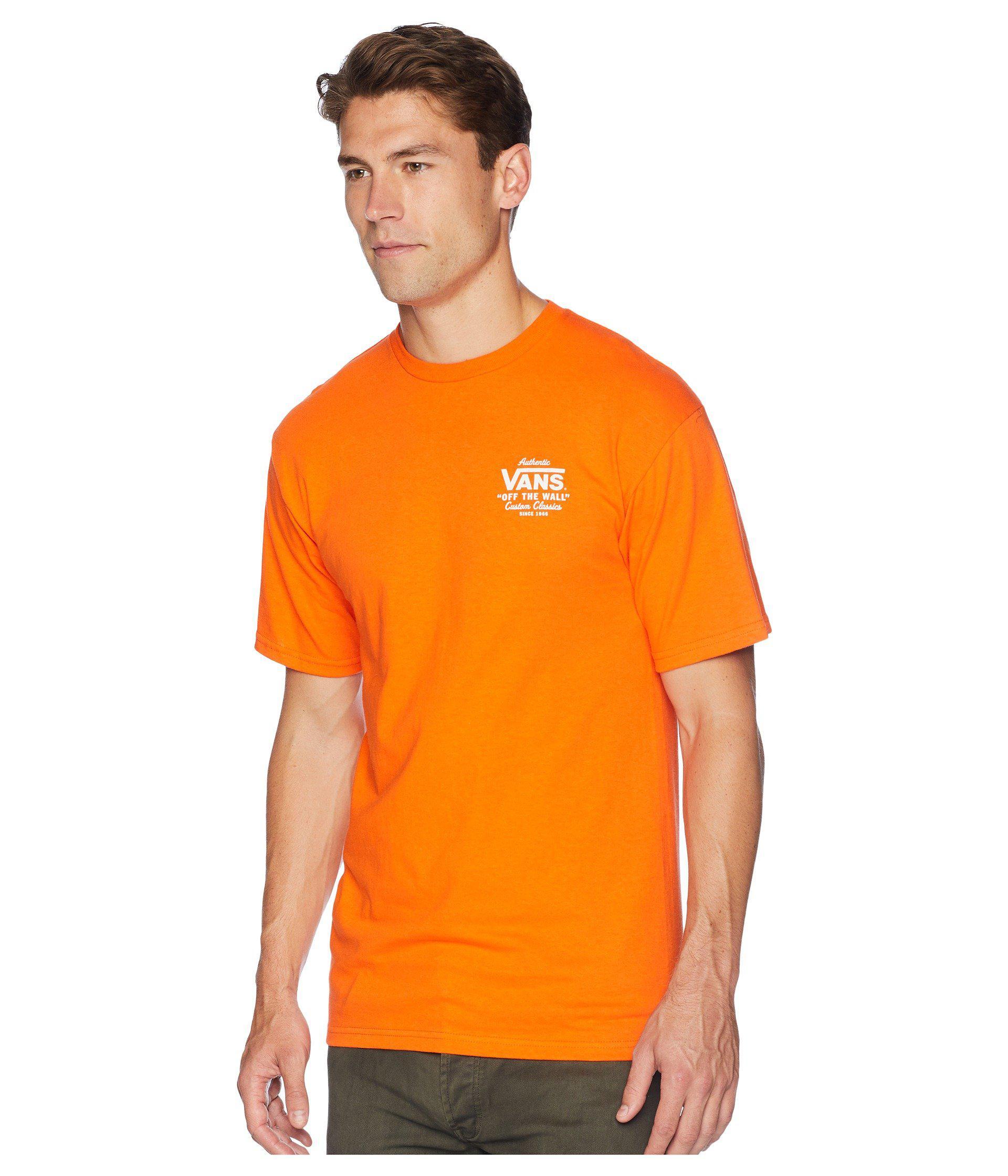 6258ea7c3dea46 Lyst - Vans Holder St Classic T-shirt in Orange for Men - Save 23%