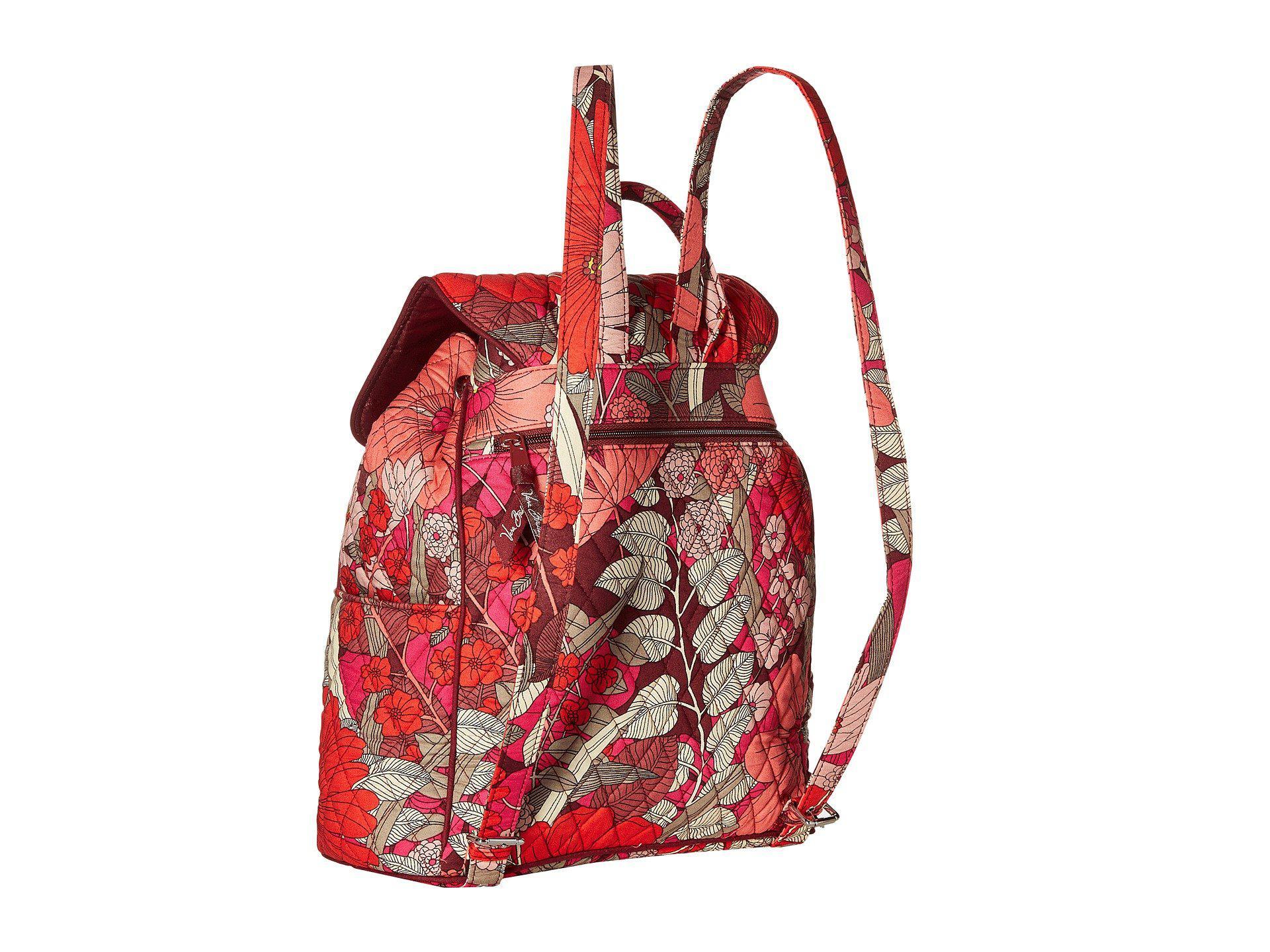 7c2207ccc2 Vera Bradley - Red Drawstring Backpack - Lyst. View fullscreen