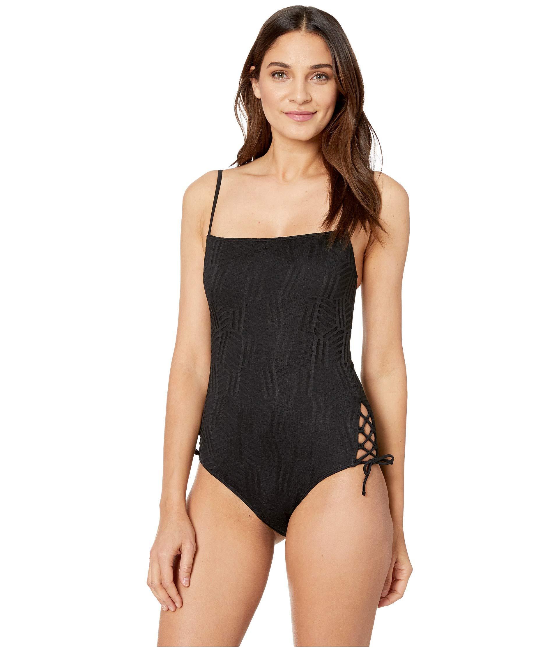4fedc2bd54dce Lyst - Roxy Island Of Gods One-piece Swimsuit in Black - Save 51%