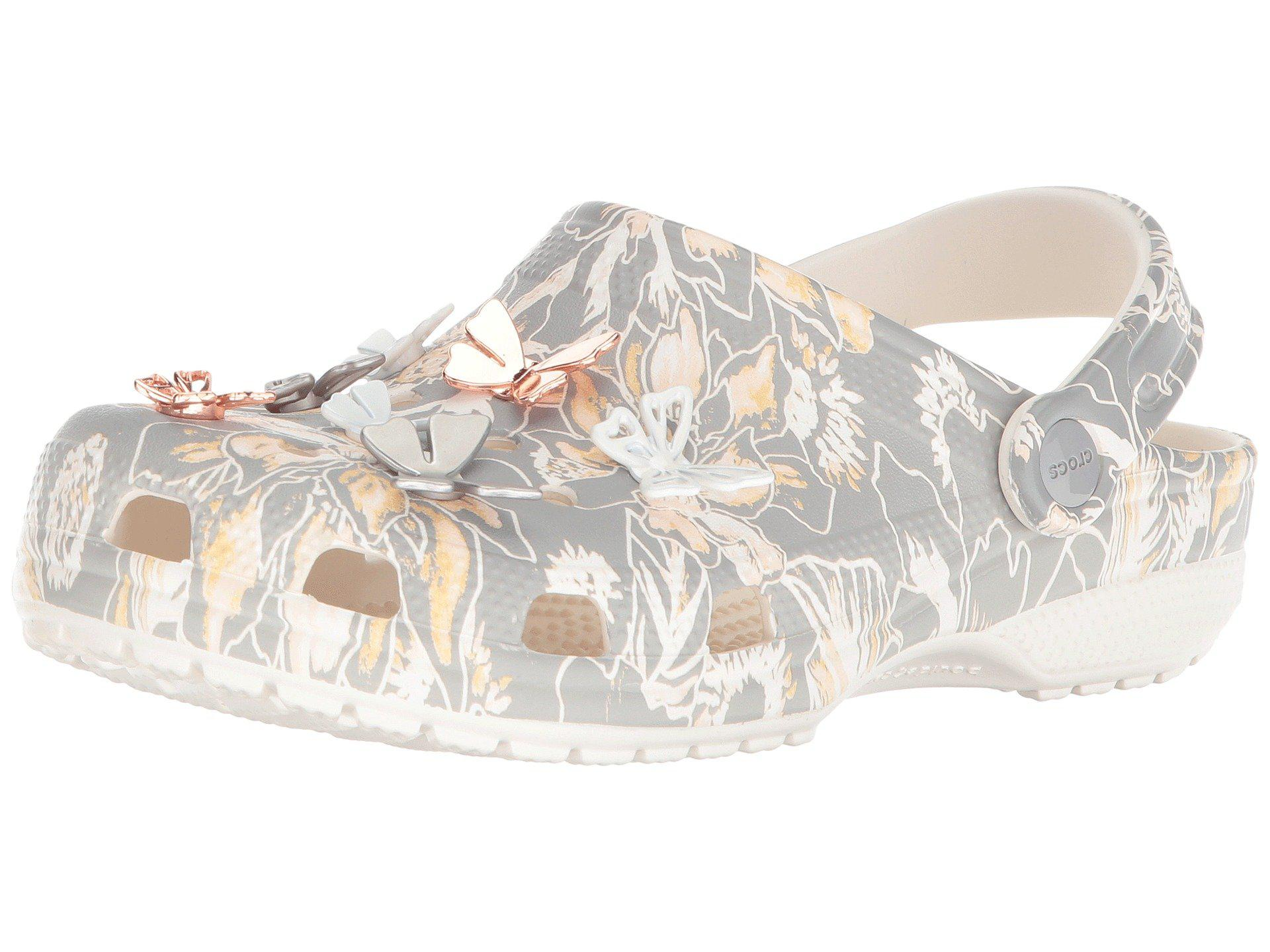 cd60512e2cb Lyst - Crocs™ Classic Botanical Butterfly Clog in Gray - Save 33%