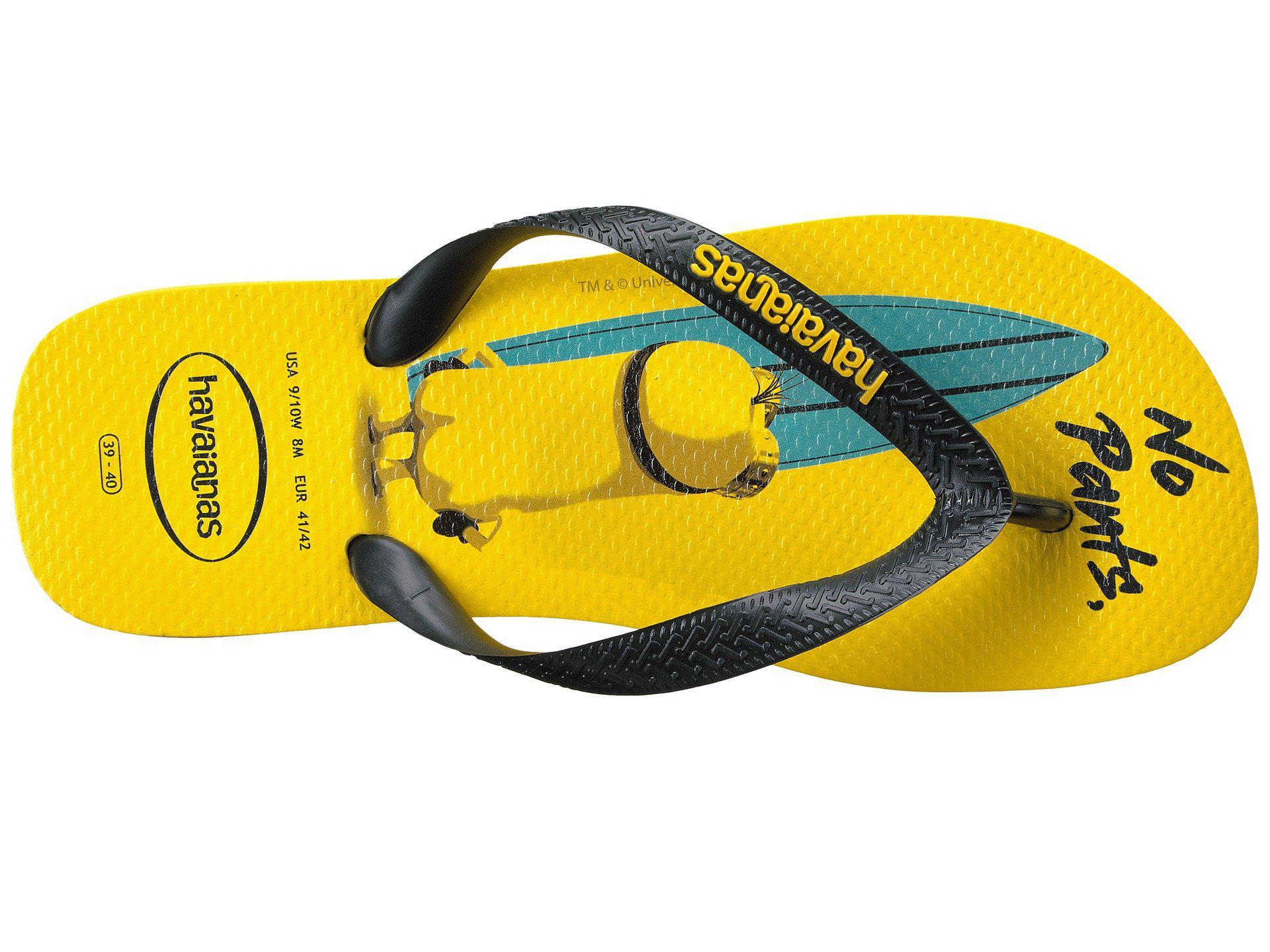 8dfa783f4068dd Havaianas - Yellow Minions Flip Flops - Lyst. View fullscreen