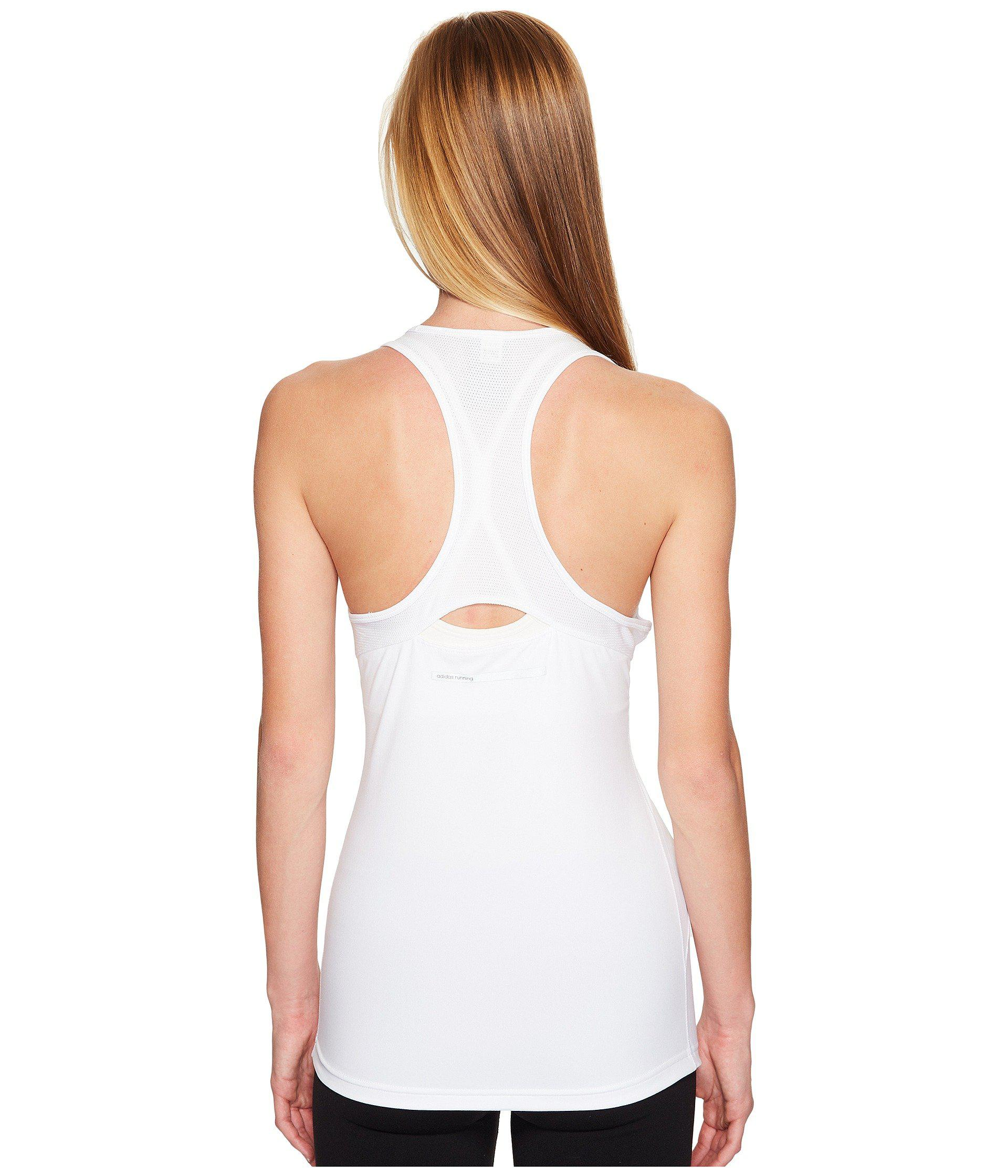 aae4e46a35795 Lyst - Adidas Cross Tank Top in White