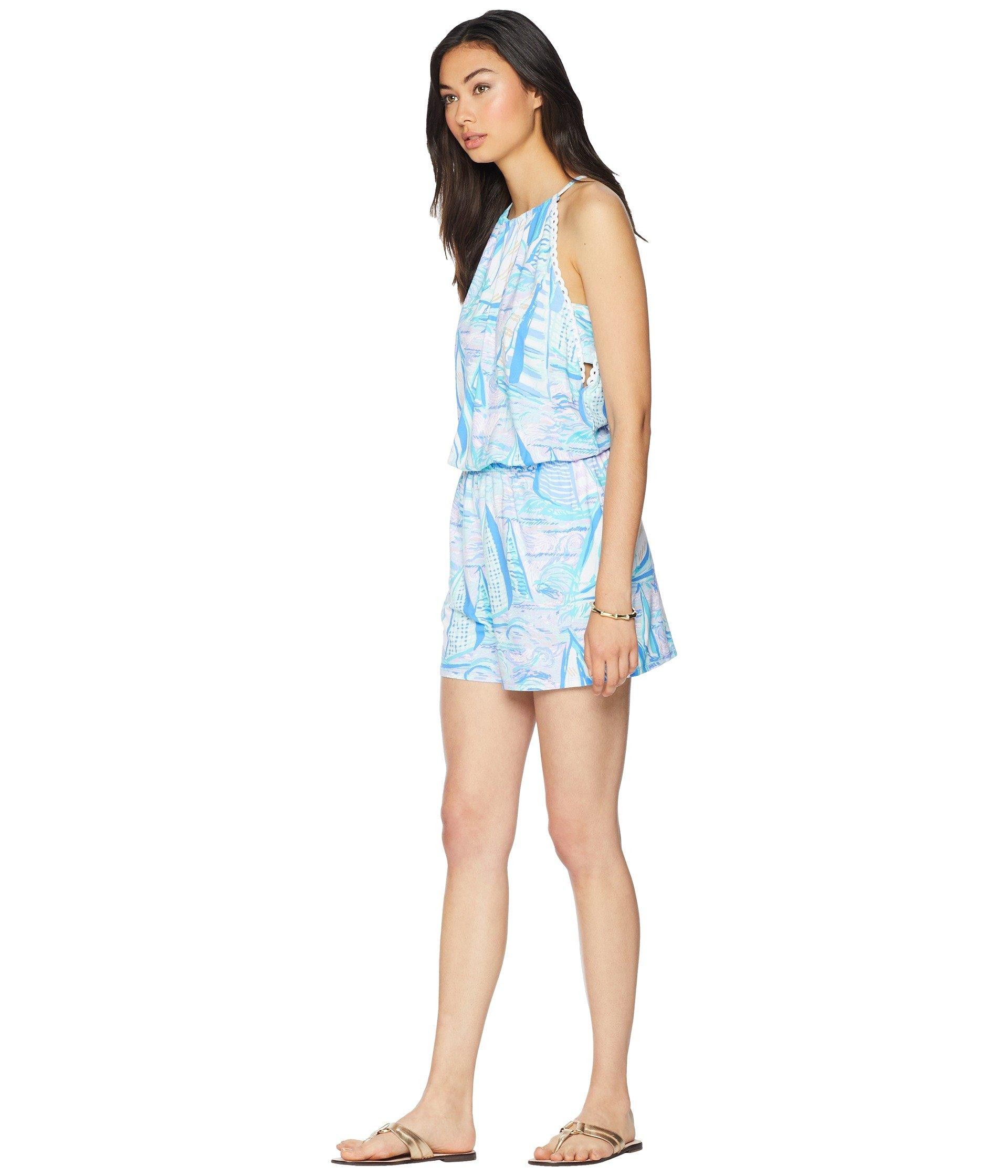 030e48c88f04f6 Lilly Pulitzer Gianni Romper in Blue - Lyst