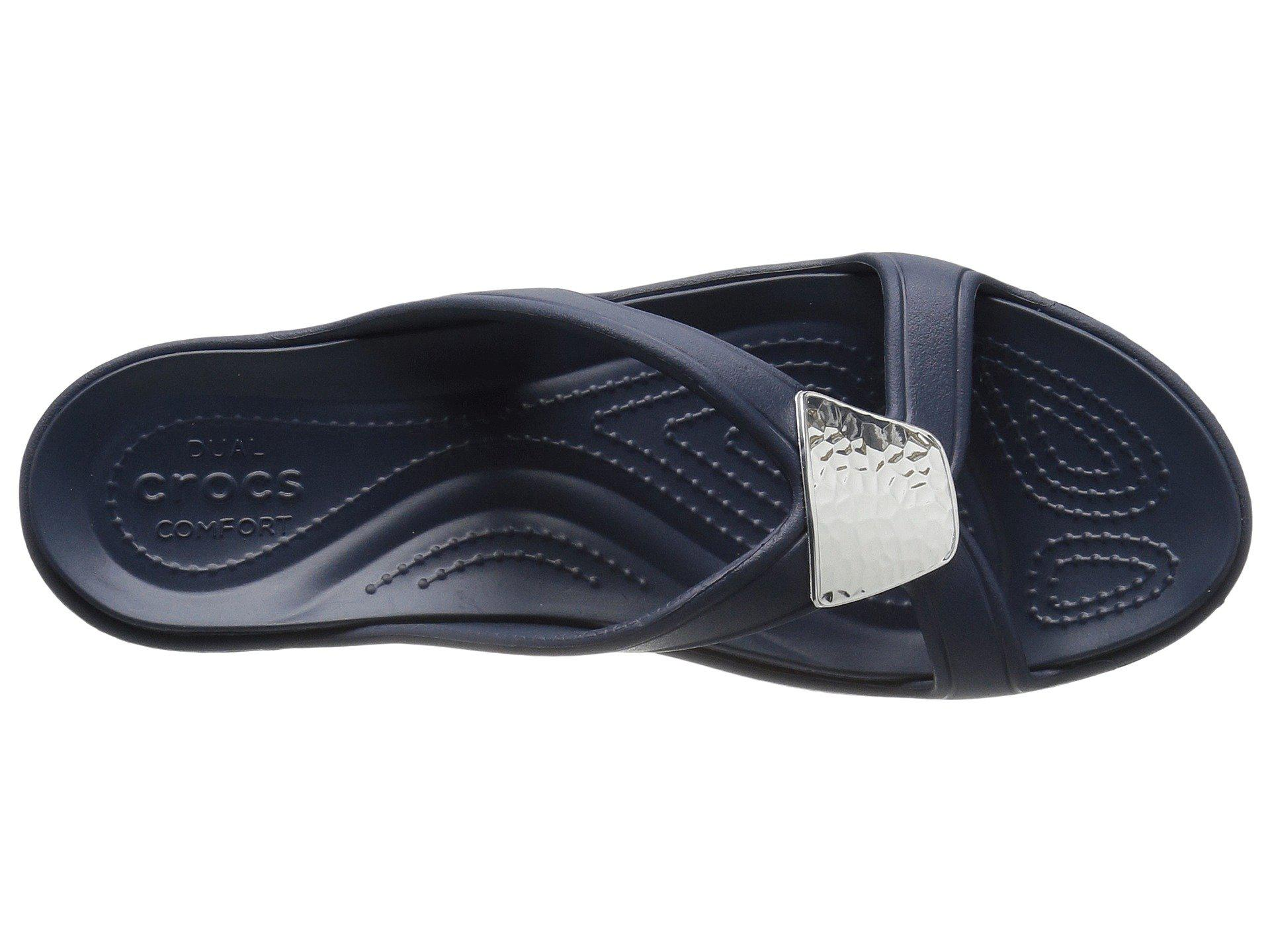 c3eca467a24a Crocs™ - Blue Sanrah Embellished Wedge - Lyst. View fullscreen
