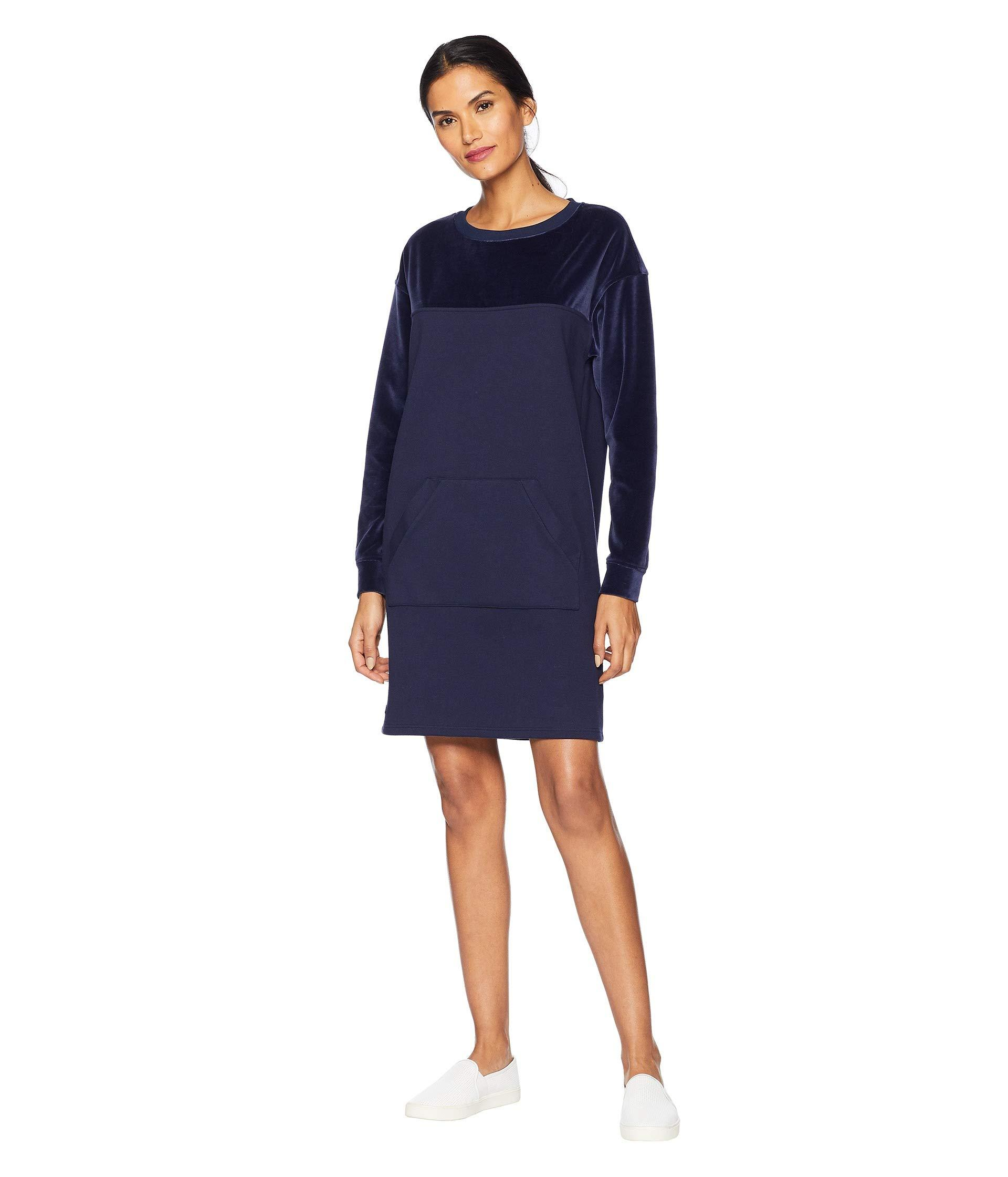 64437aaccb0 Lacoste Long Sleeve Velvet Sweater Dress in Blue - Save 49% - Lyst