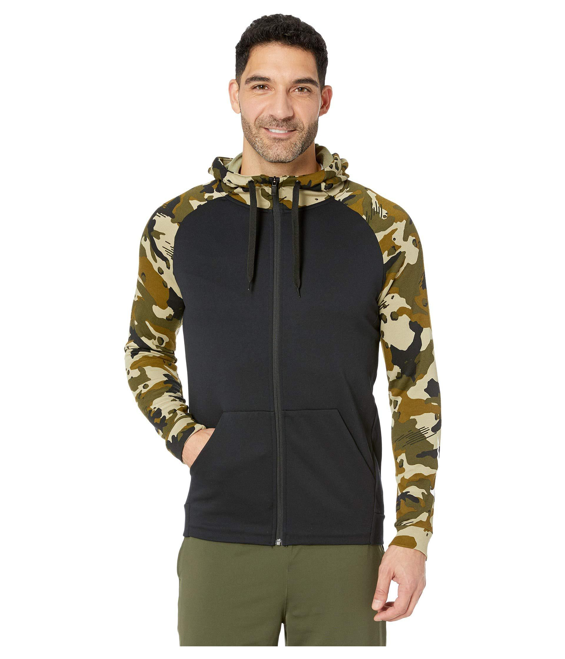 734cb3d33a8 Lyst - Nike Dry Hoodie Full Zip Fleece 2l Camo in Black for Men ...